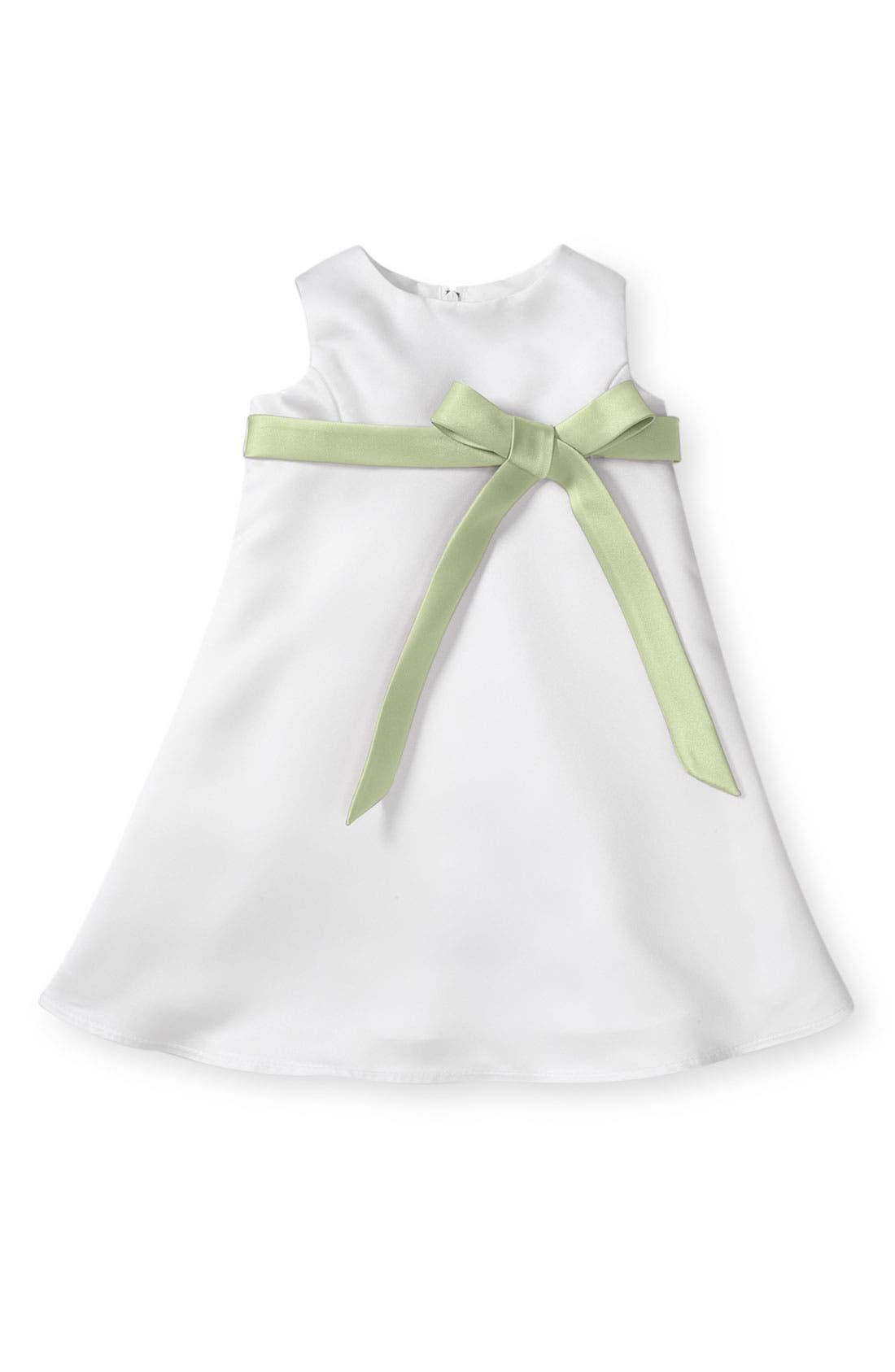 Alternate Image 1 Selected - Us Angels Bow Sash Satin Dress (Baby Girls)