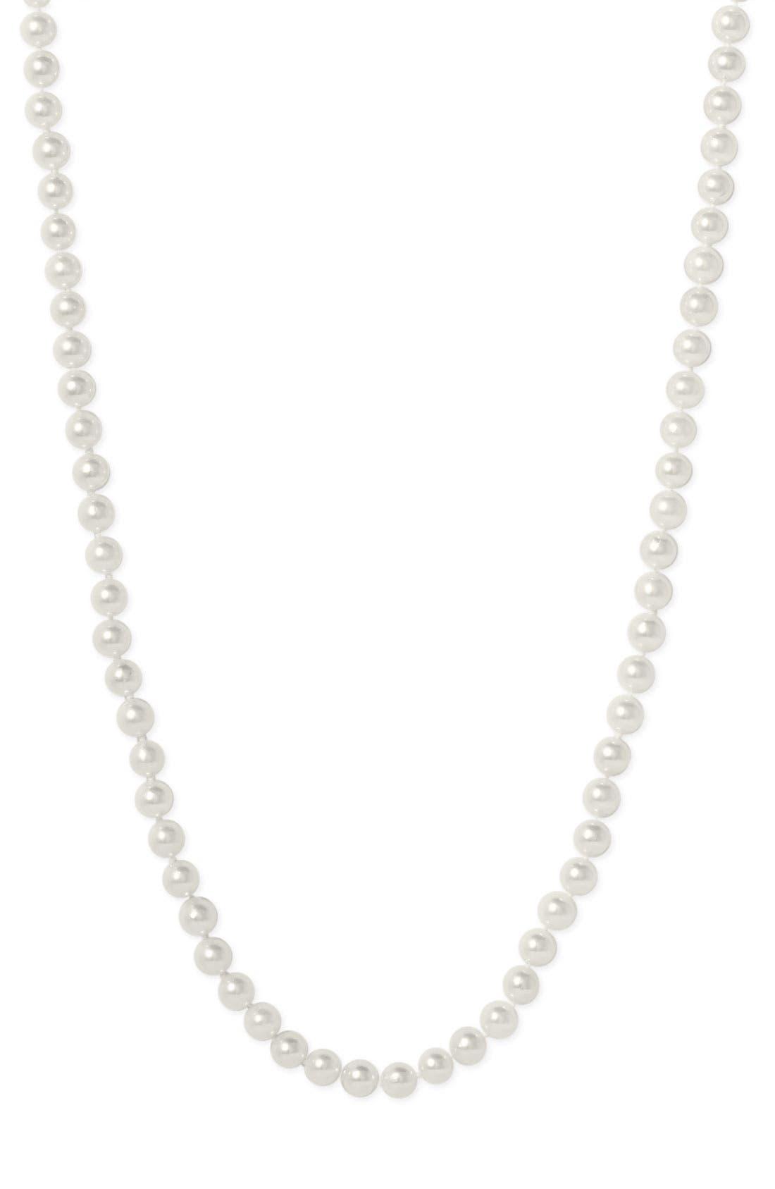Alternate Image 2  - Mastoloni Akoya Baroque 7mm Pearl Long Strand Necklace