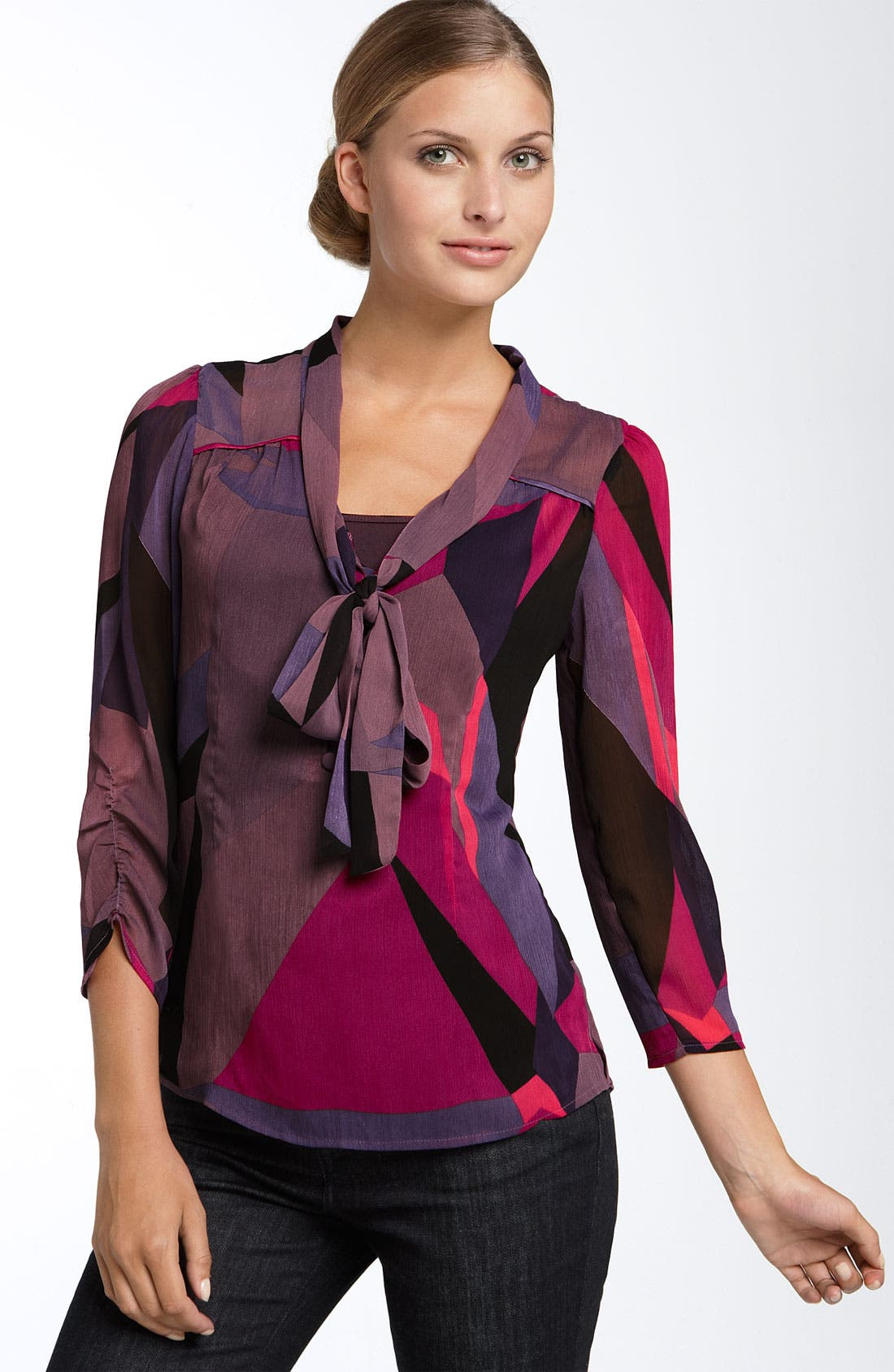Alternate Image 1 Selected - DKNY Jeans Bow Neck Blouse