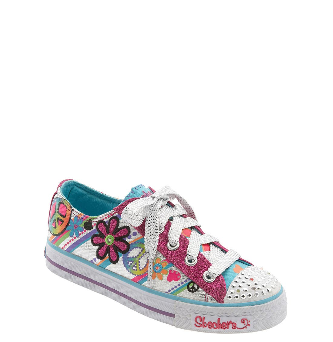 Main Image - SKECHERS 'Shuffles - Lights' Sneaker (Walker, Toddler & Little Kid)
