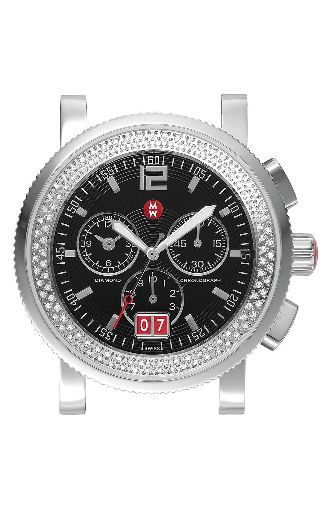 Main Image - MICHELE 'Sport Sail - Large' Diamond Black Dial Watch Case