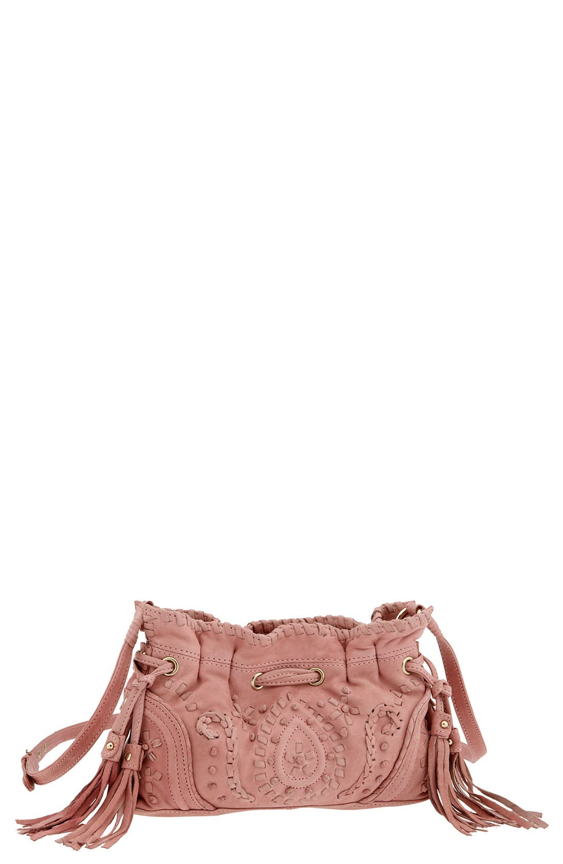 Main Image - Junior Drake 'Mini' Embroidered Drawstring Crossbody Bag