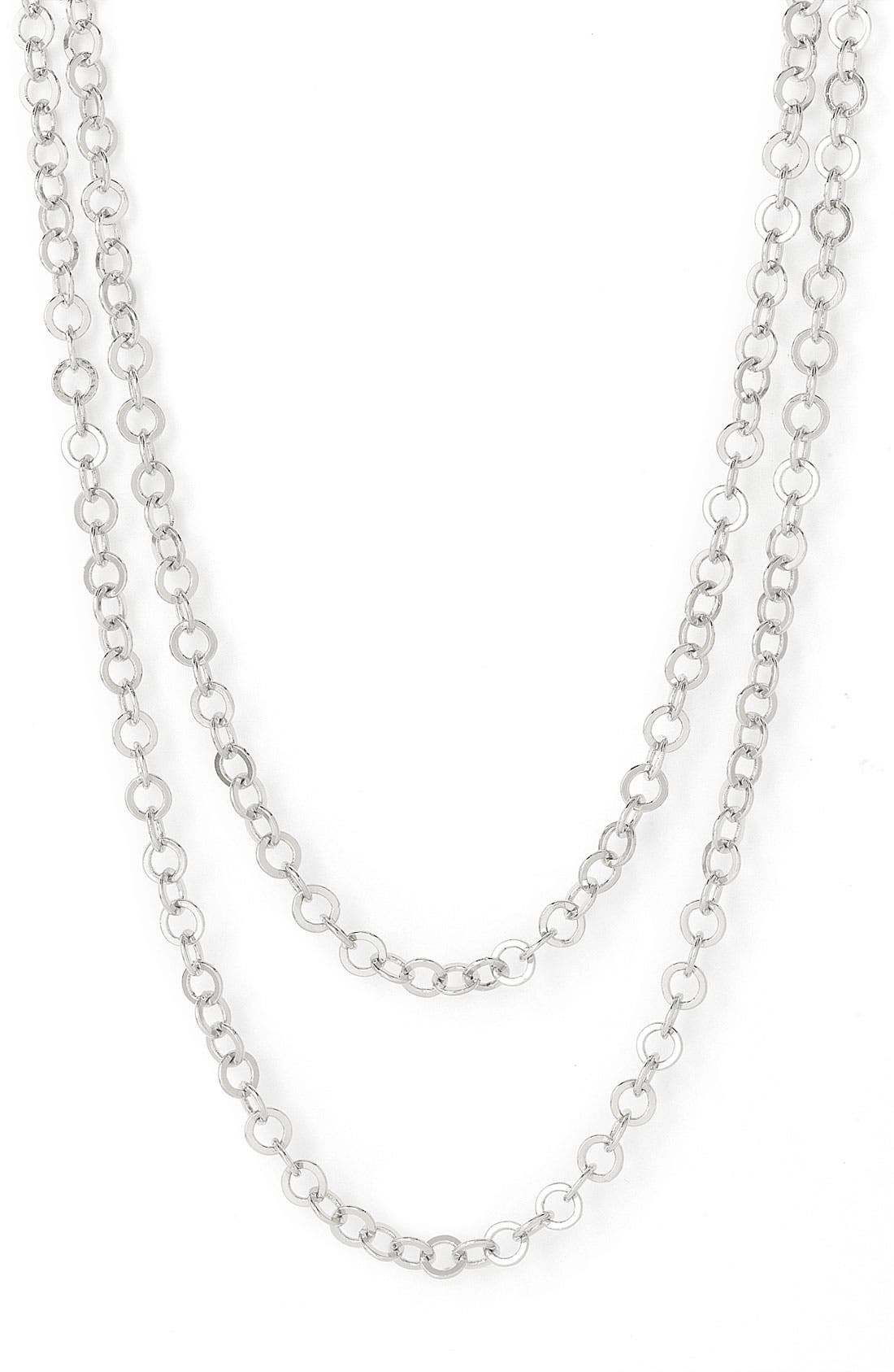 Main Image - Nordstrom Interlocking Circles Long Strand Necklace