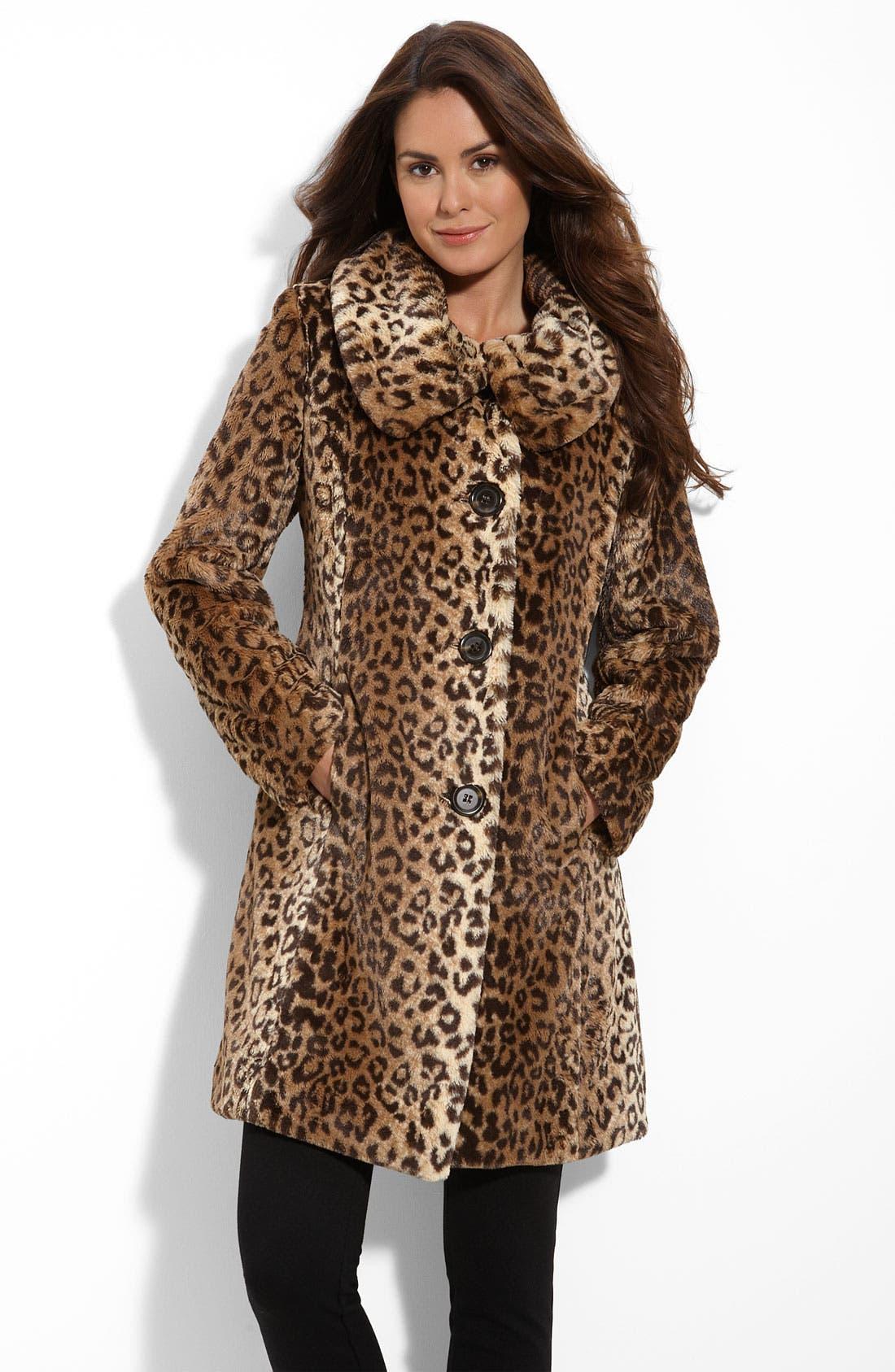 Alternate Image 1 Selected - Weatherproof® Faux Fur Topper