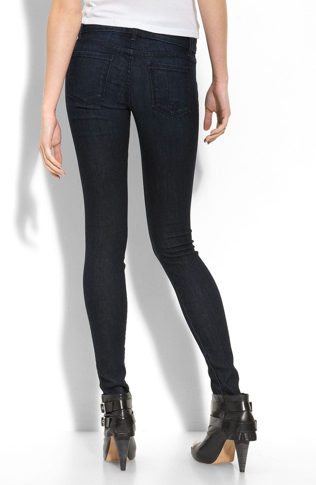Alternate Image 1 Selected - Easy Money Jean Company 'Lira' Stretch Denim Leggings (After Party Wash)