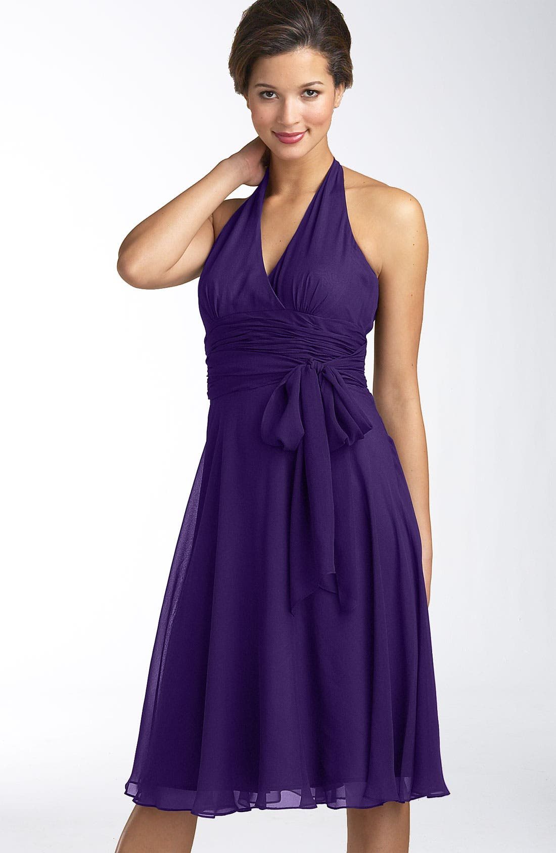 Alternate Image 1 Selected - Maggy London Chiffon Halter Dress