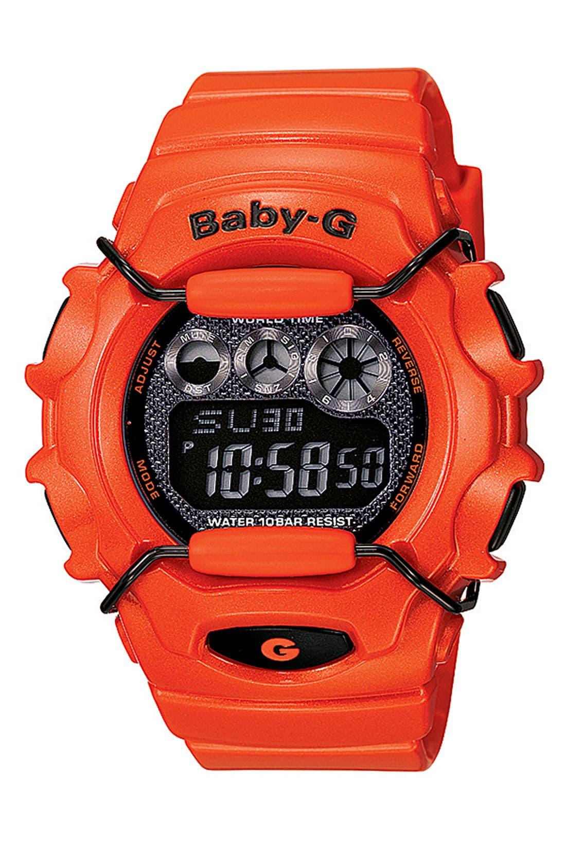 Alternate Image 1 Selected - Casio 'Baby-G Metallic' Digital Watch