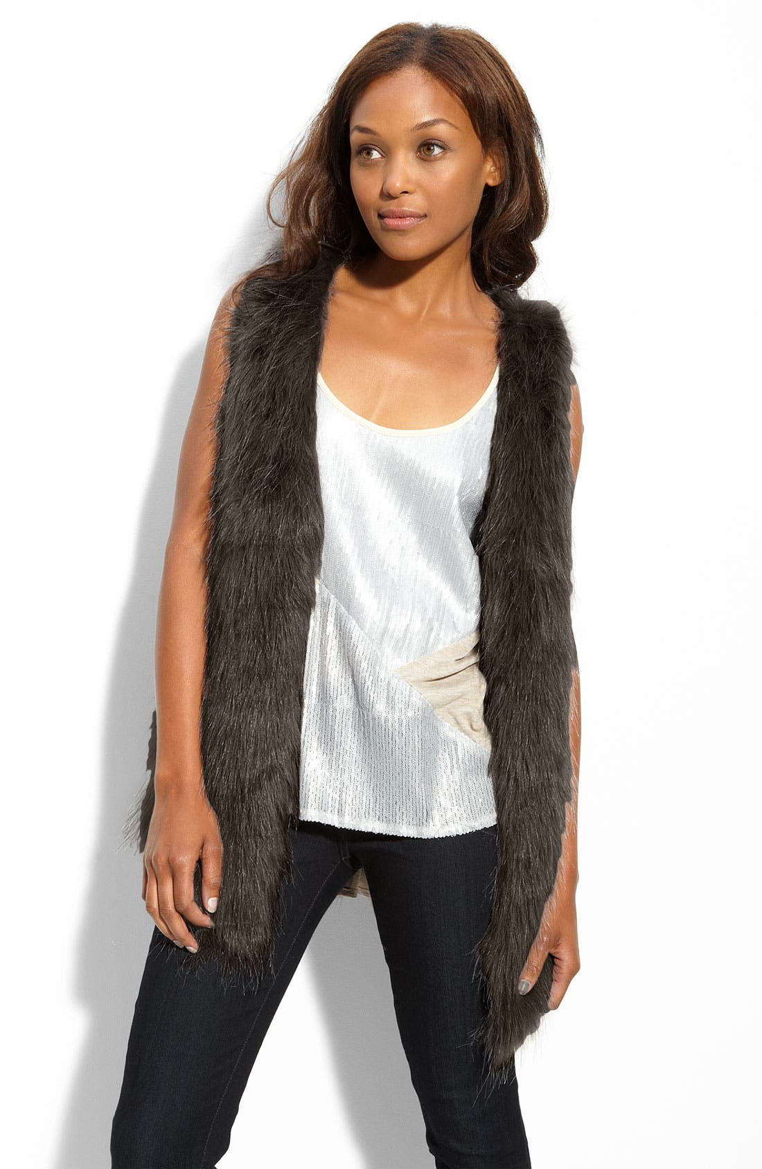 Alternate Image 1 Selected - Kensie Faux Fur Vest