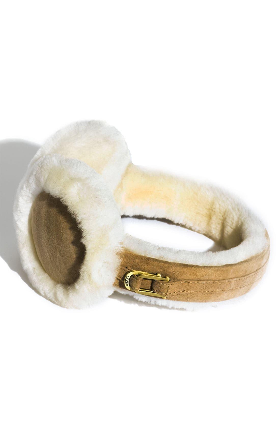 Alternate Image 1 Selected - UGG® Australia Double 'U' Shearling Earmuffs