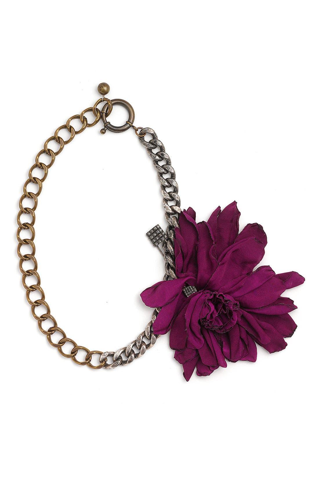 Alternate Image 1 Selected - Lanvin Silk Flower Necklace
