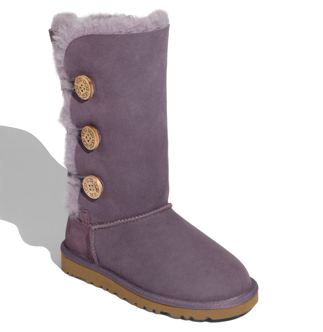 Alternate Image 1 Selected - UGG® 'Bailey Button Triplet' Boot (Little Kid & Big Kid)