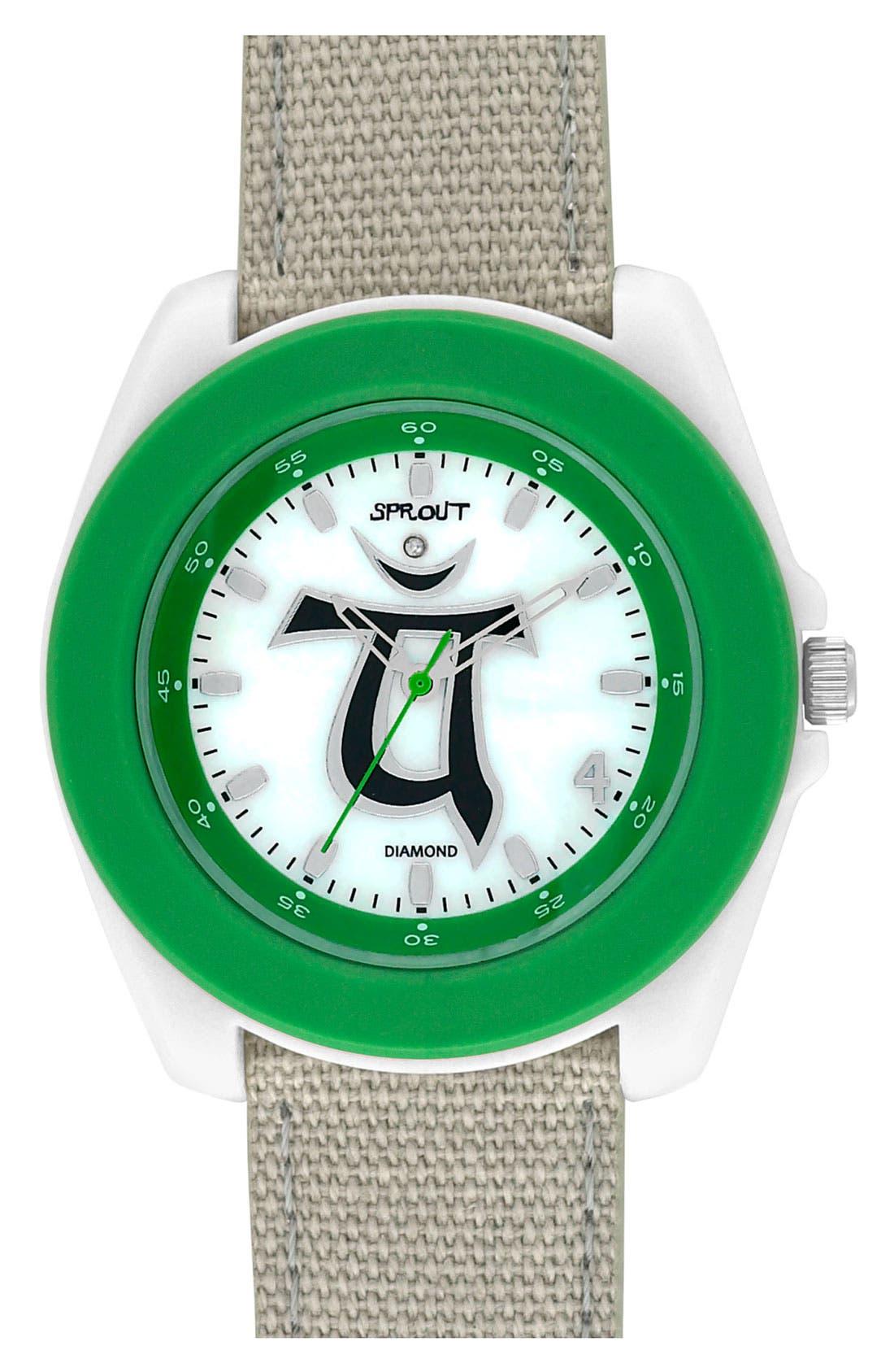 Main Image - SPROUT™ Watches 'Chakra' Diamond Organic Strap Watch, 44mm