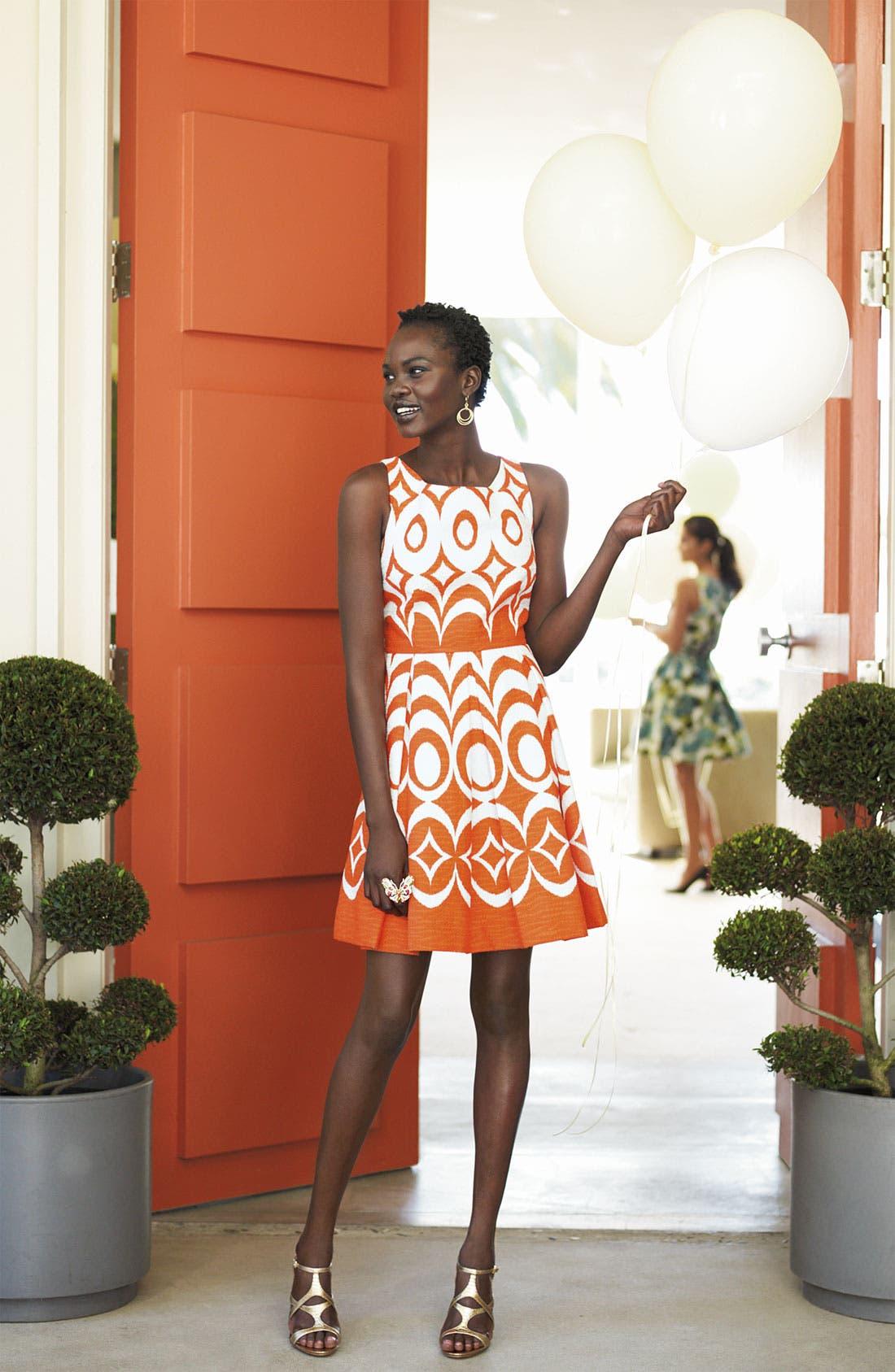 Alternate Image 3  - Taylor Dresses Jacquard Party Dress