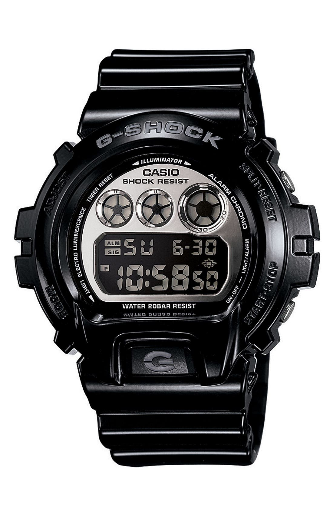 Main Image - G-Shock 'Mirror Metallic' Digital Watch, 50mm x 45mm