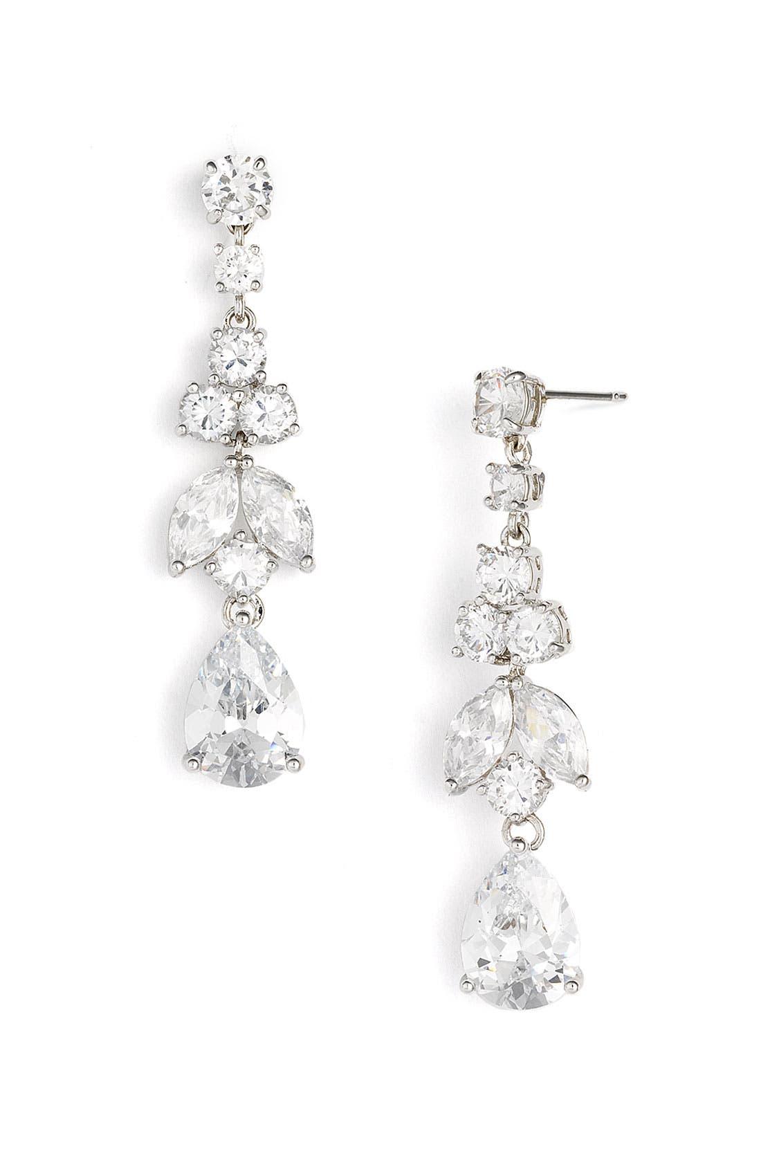 Alternate Image 1 Selected - Tasha Cubic Zirconia Pear Drop Earrings
