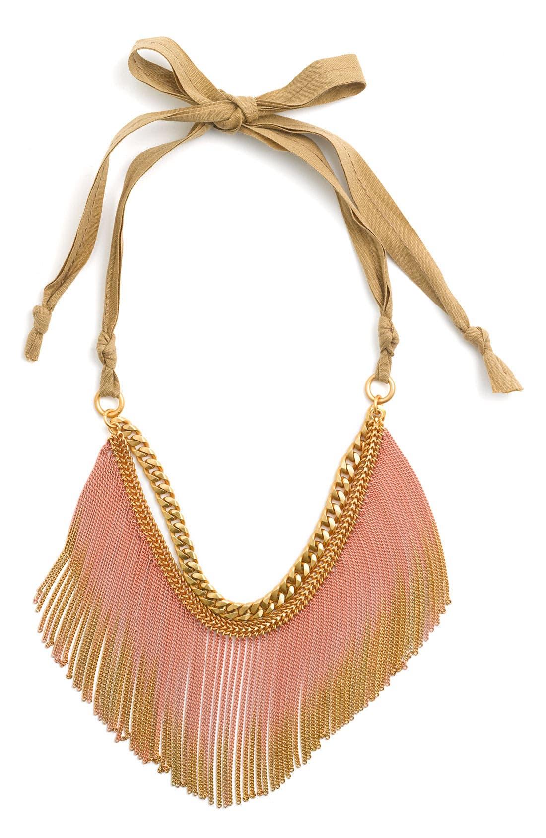 Main Image - Juicy Couture 'Wanderlust' Gradient Fringe Necklace