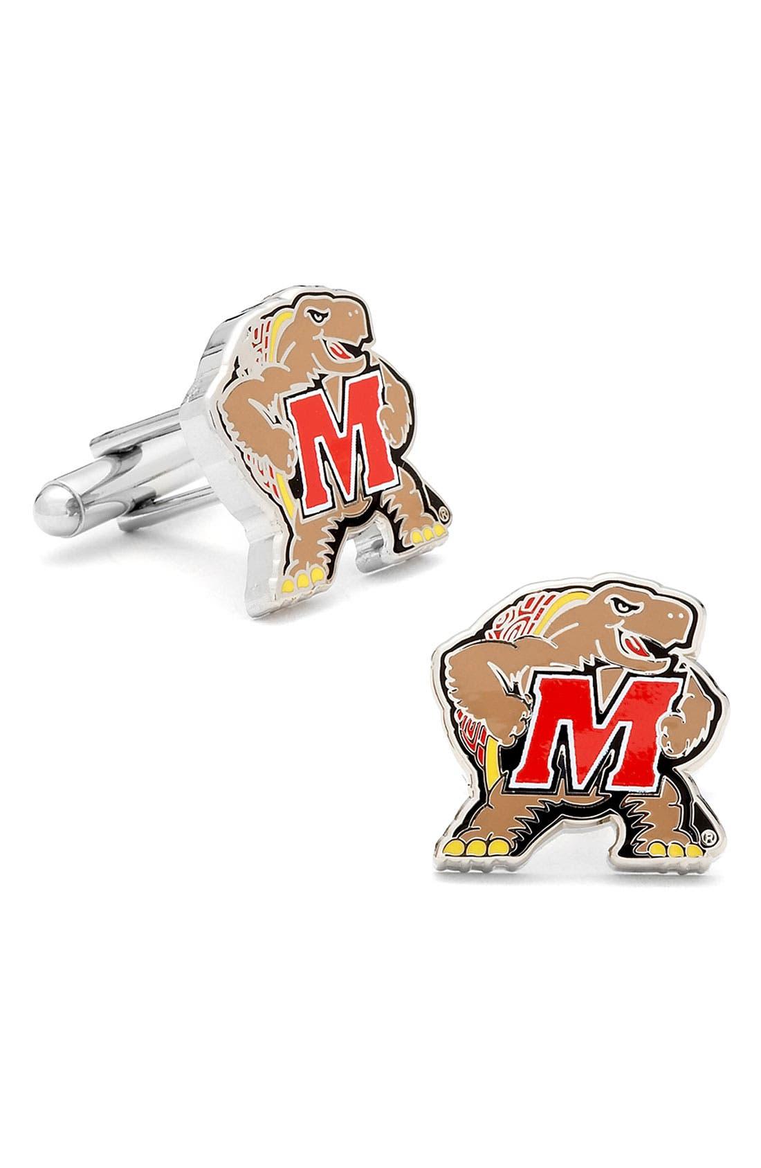 Main Image - Cufflinks, Inc. 'Maryland Terrapins' Cuff Links