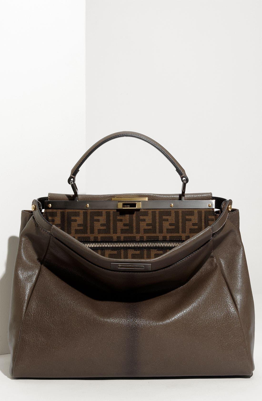 Alternate Image 1 Selected - Fendi 'Peekaboo - Large' Leather Satchel