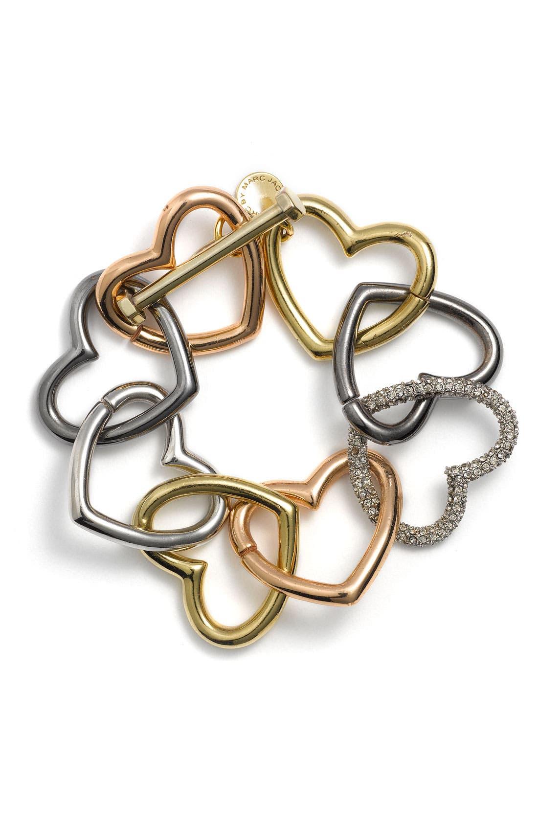 Alternate Image 1 Selected - MARC BY MARC JACOBS 'Love Edge' Heart Bracelet