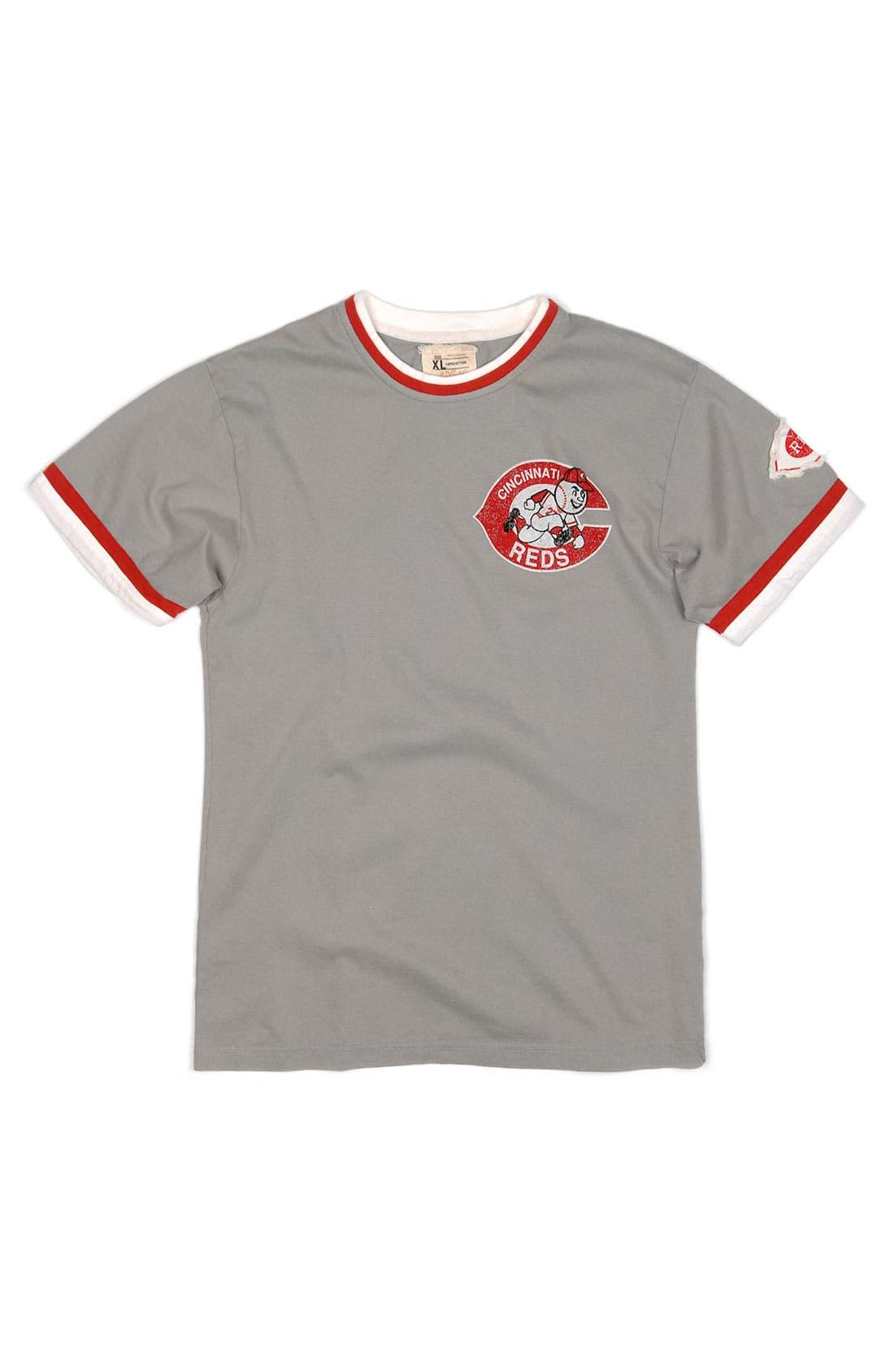 Main Image - Red Jacket 'Cincinnati Reds' Trim Fit Crewneck Ringer T-Shirt (Men)