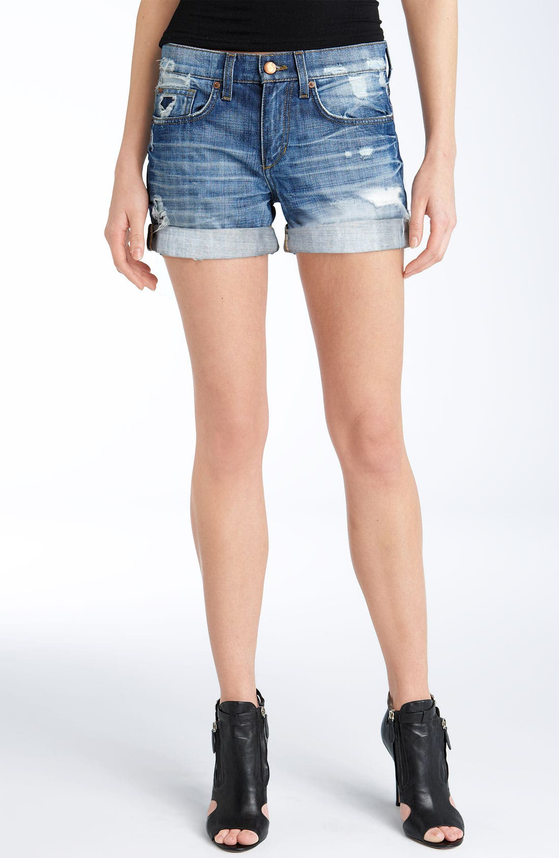 Alternate Image 1 Selected - Joe's Loose Fit Denim Shorts (Blanchett Wash)