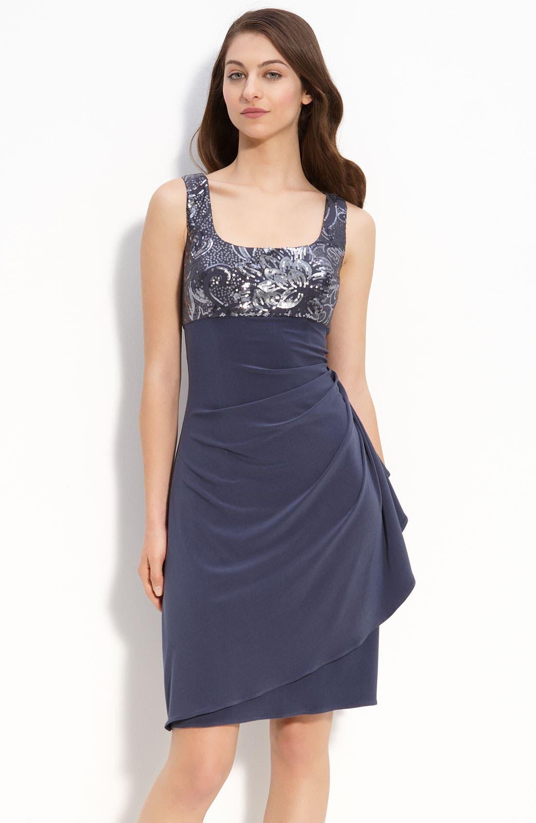 Alternate Image 2  - Alex Evenings Sequin Jersey Sheath Dress & Bolero