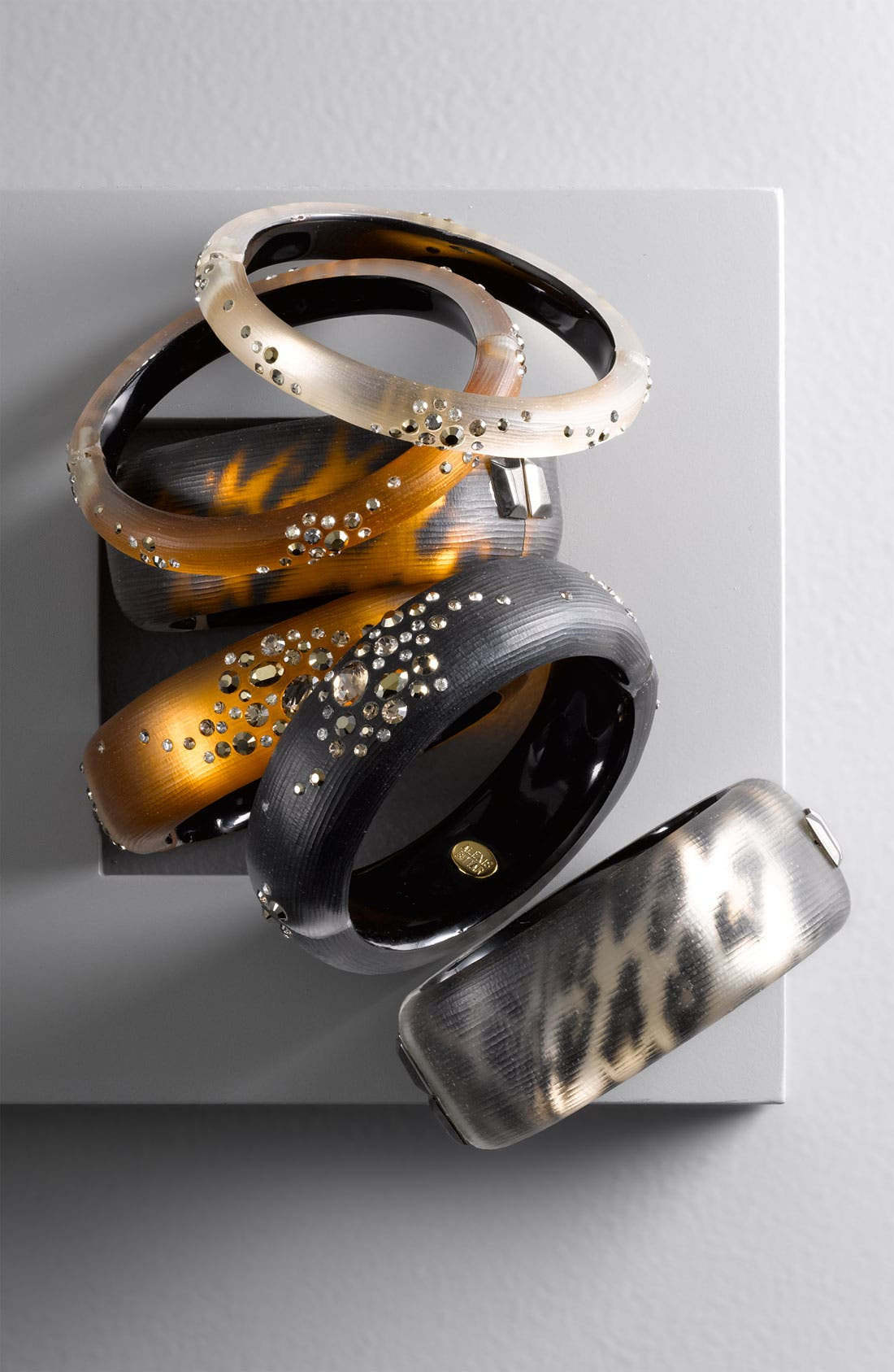 Alternate Image 2  - Alexis Bittar 'Sepia Dust' Medium Hinged Bracelet (Nordstrom Exclusive)
