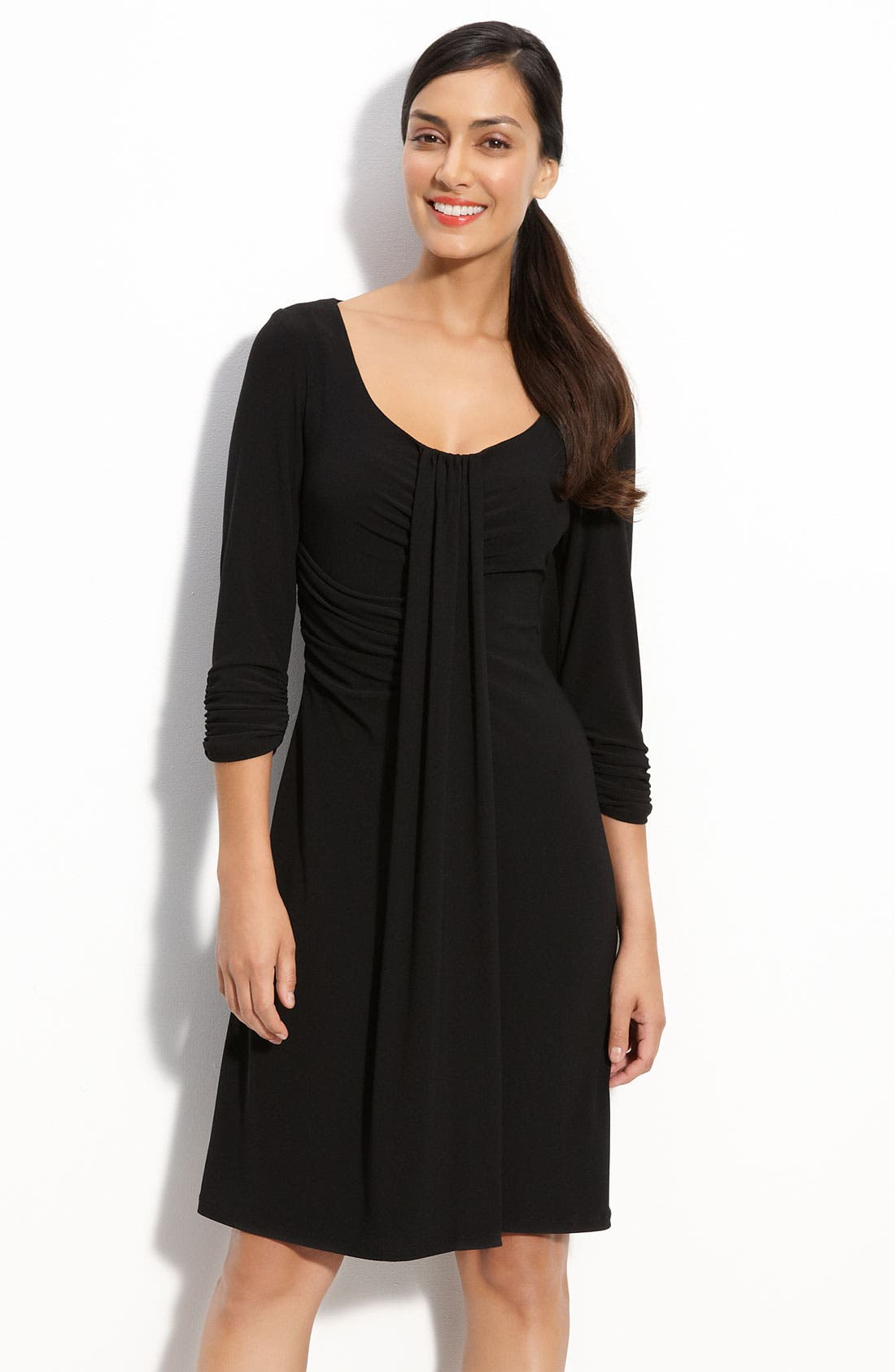 Alternate Image 1 Selected - Donna Morgan Draped Jersey Knit Dress