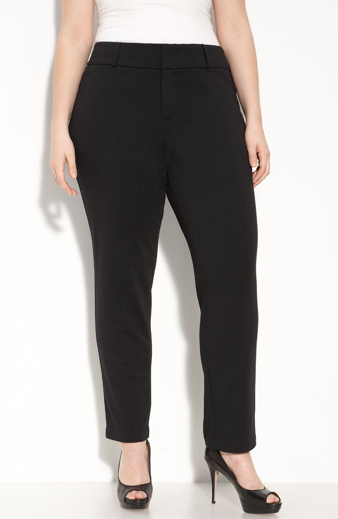 Main Image - MICHAEL Michael Kors Straight Leg Ankle Pants (Plus Size)
