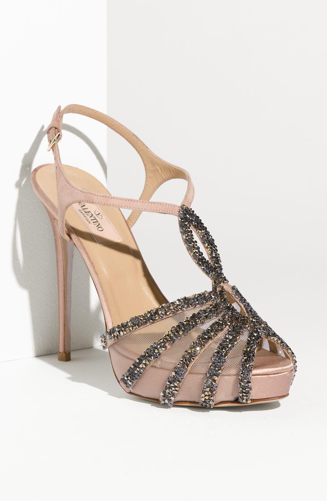 Main Image - Valentino Embellished T-Strap Sandal