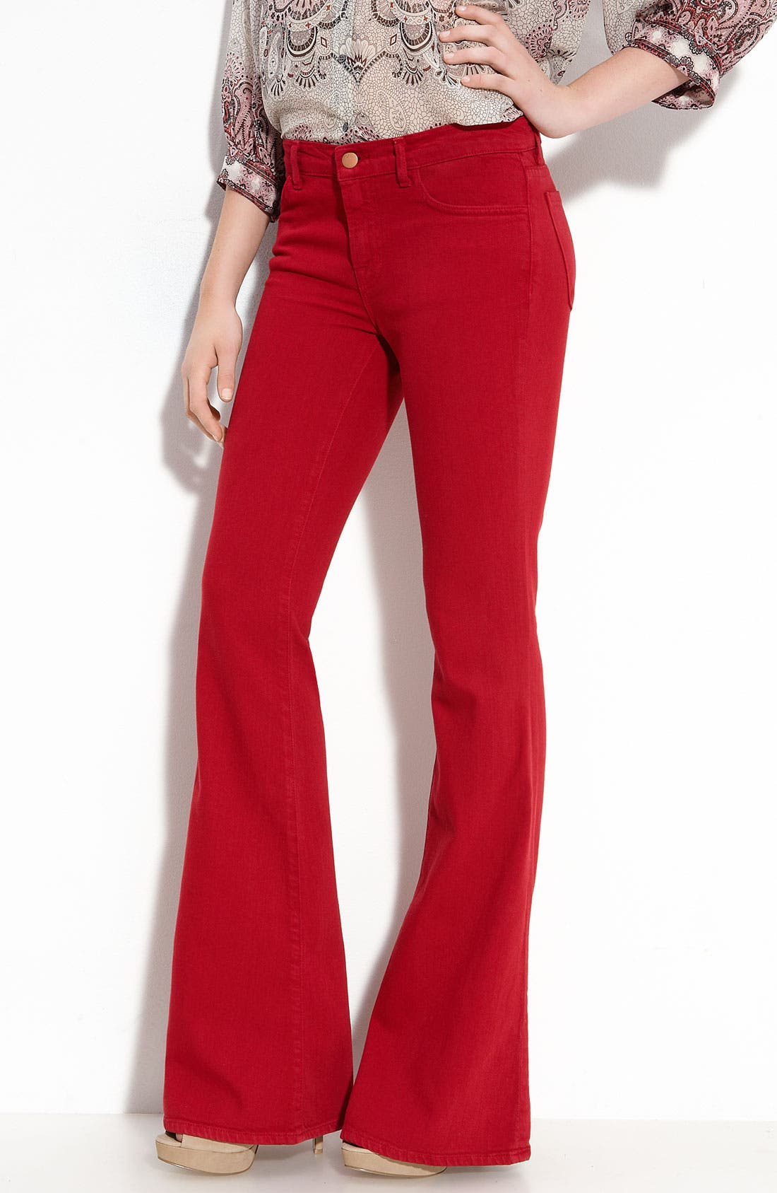Main Image - J Brand Mid Rise Flare Leg Stretch Jeans