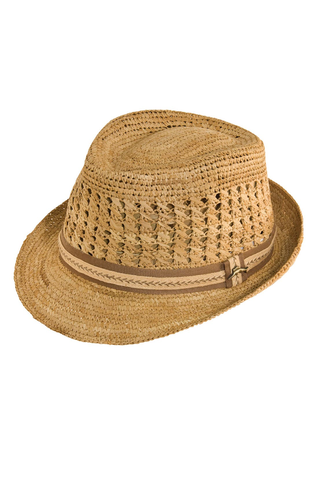 Alternate Image 1 Selected - Tommy Bahama Crochet Raffia Fedora