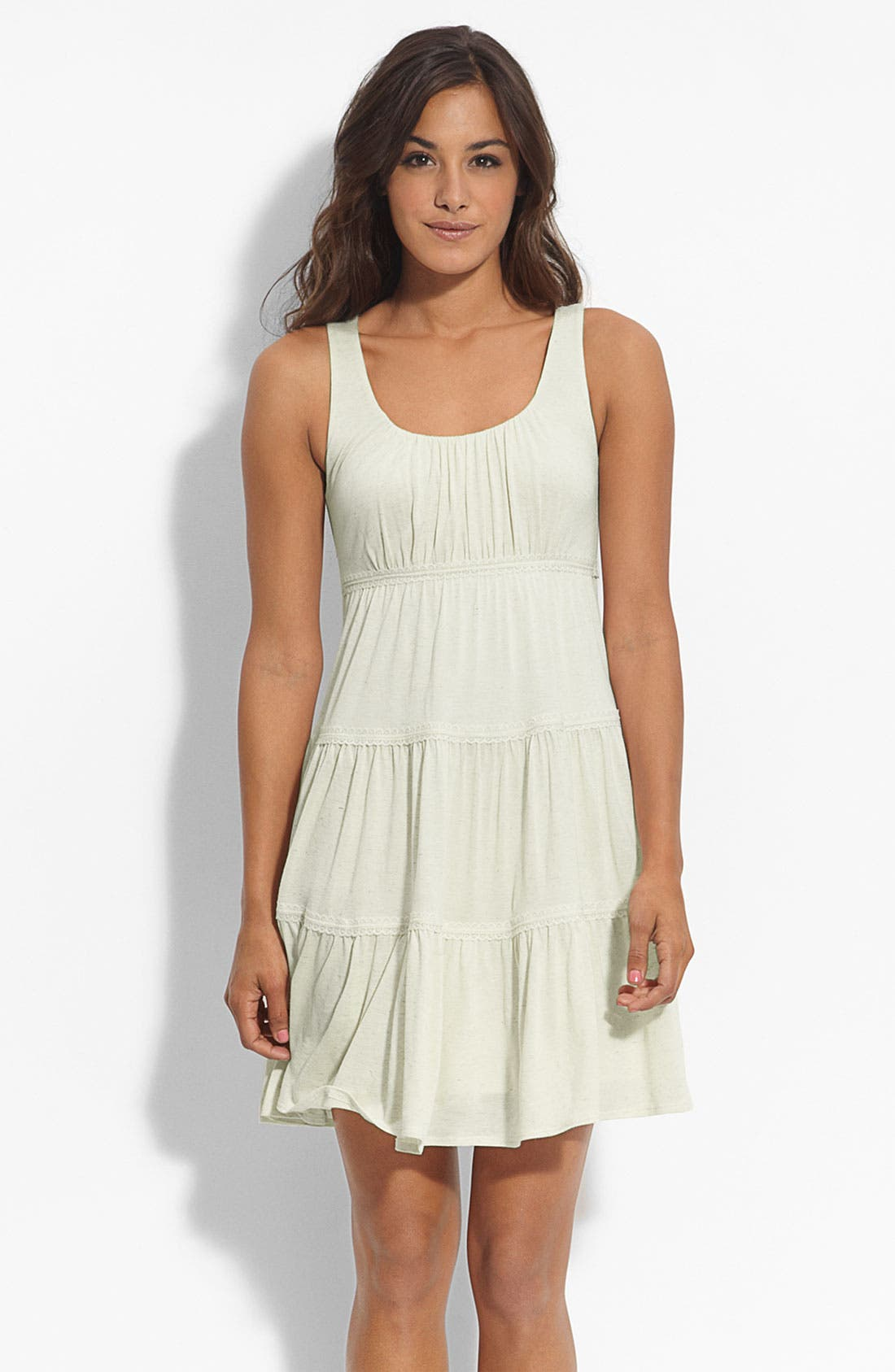 Alternate Image 1 Selected - Soprano Tiered Tank Dress (Juniors)