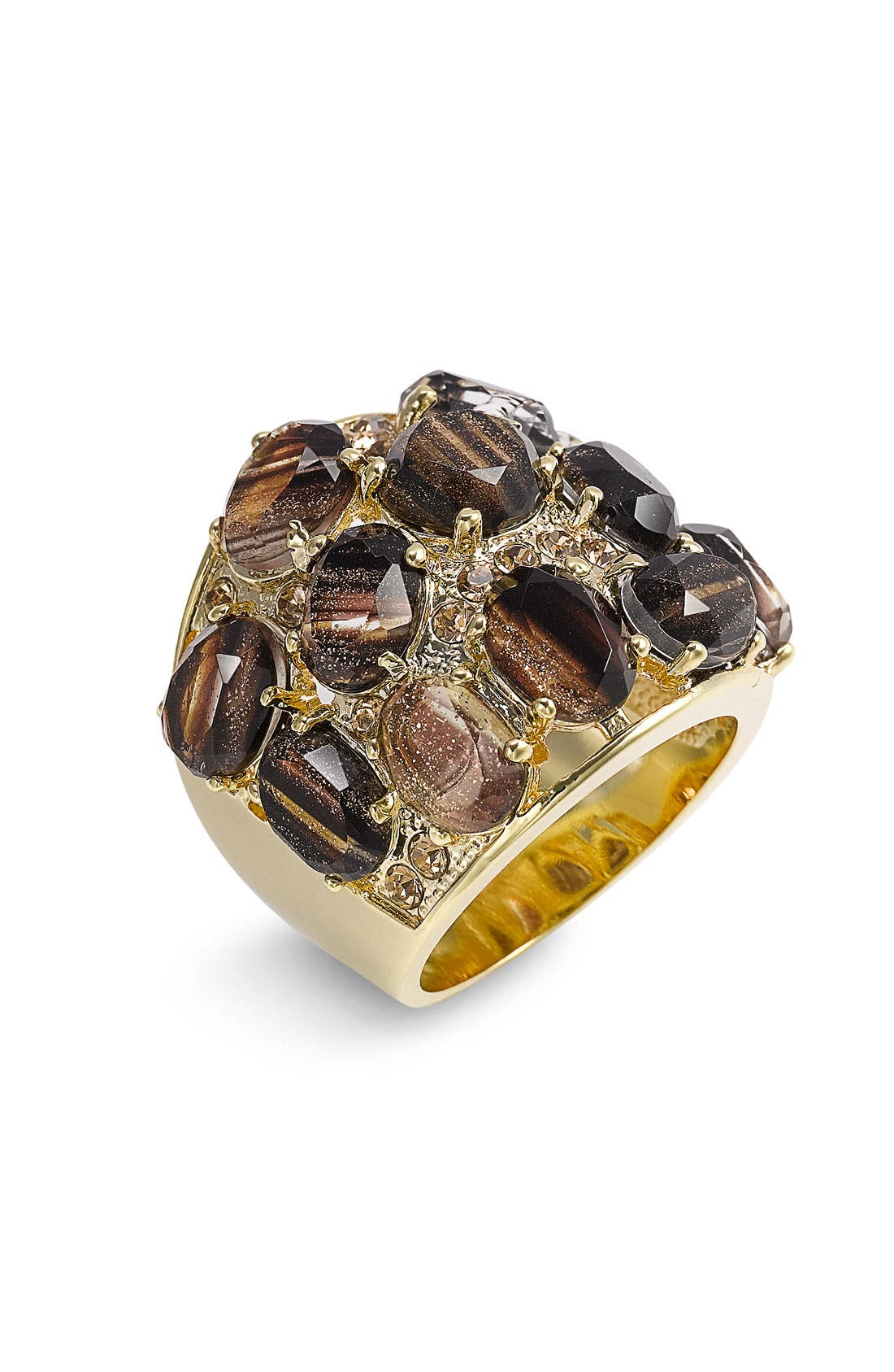 Alternate Image 1 Selected - Ariella Collection Multi Stone Encrusted Ring