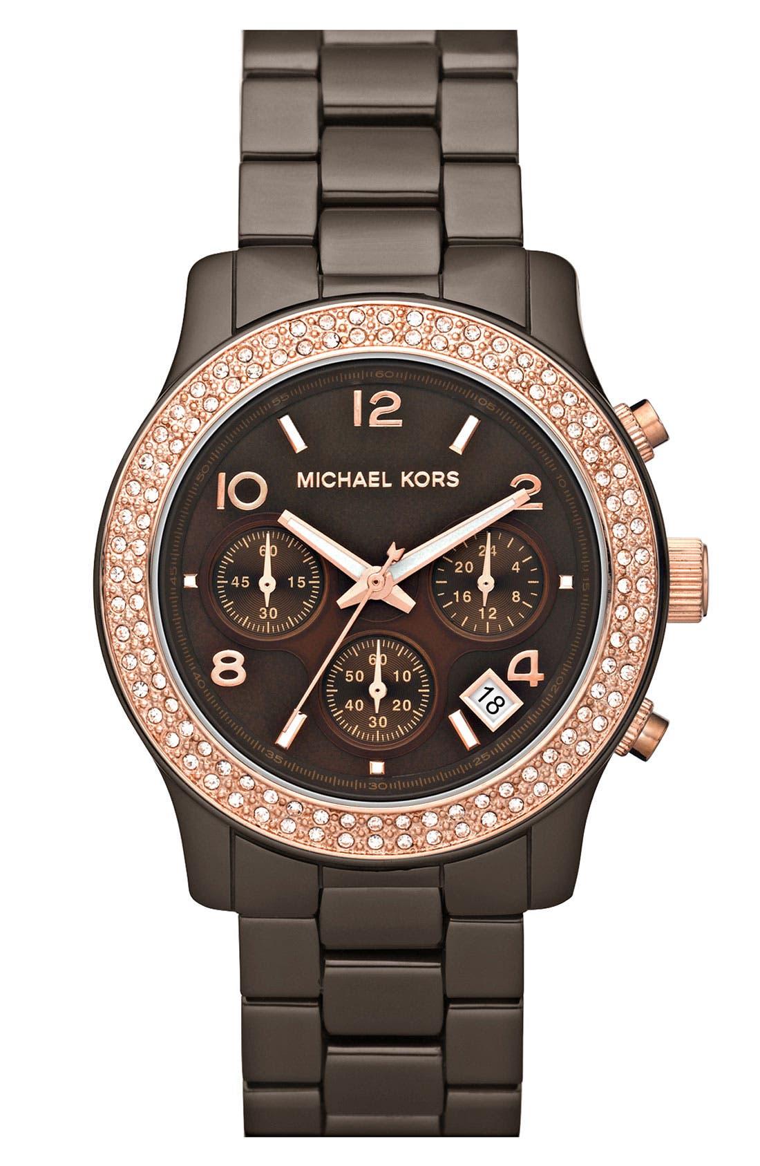 Alternate Image 1 Selected - Michael Kors 'Runway Ceramic' Watch, 40mm