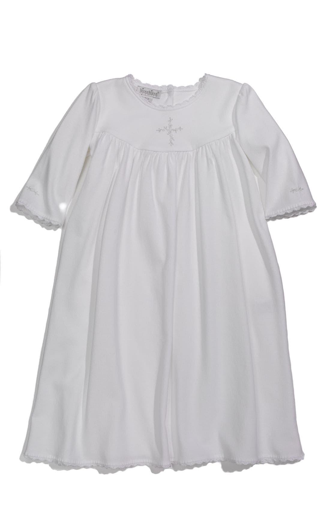 Alternate Image 1 Selected - Kissy Kissy 'Hope's Cross' Gown (Infant)