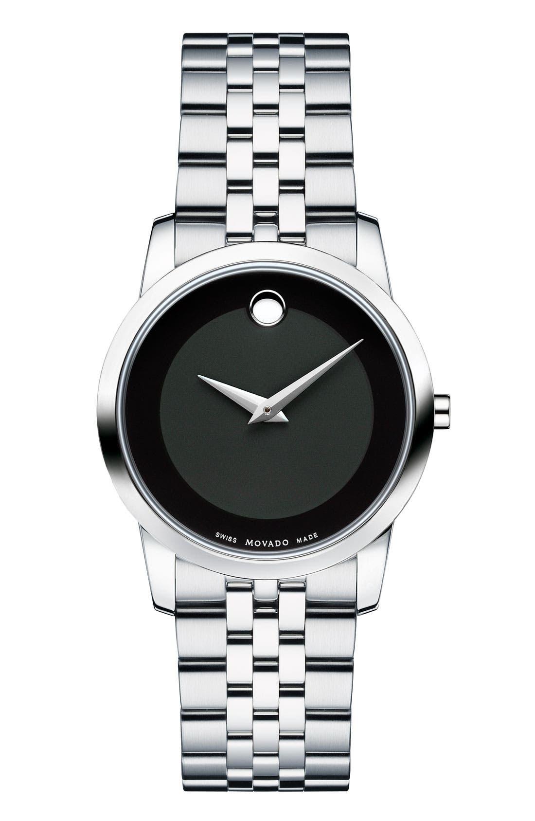 Main Image - Movado 'Museum' Bracelet Watch, 26mm