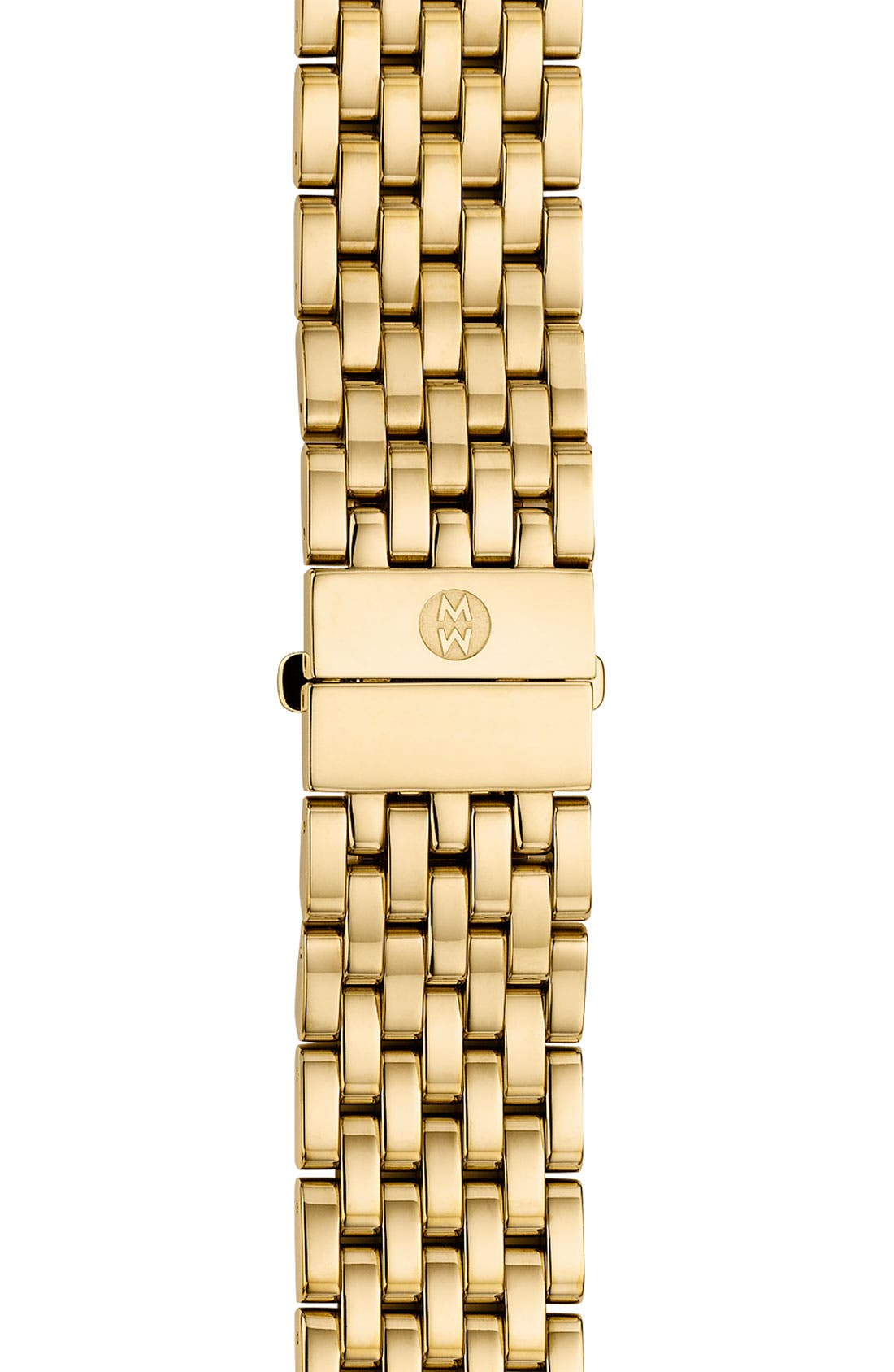 Alternate Image 1 Selected - MICHELE 'CSX-36' 18mm Gold Plated Bracelet Watchband (Limited Edition)