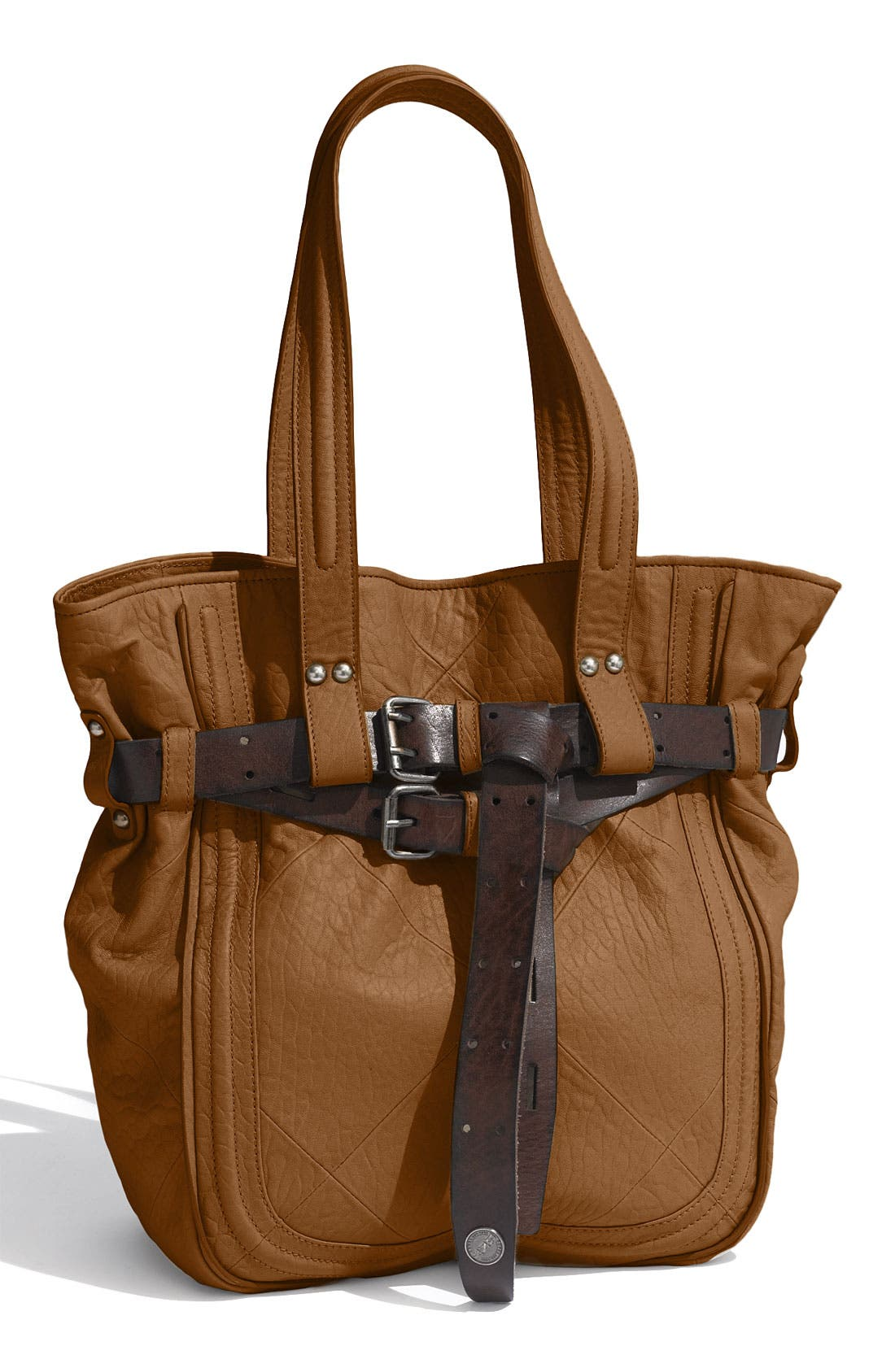 Revel NY 'Delancey' Belted 2-Tone Leather Tote
