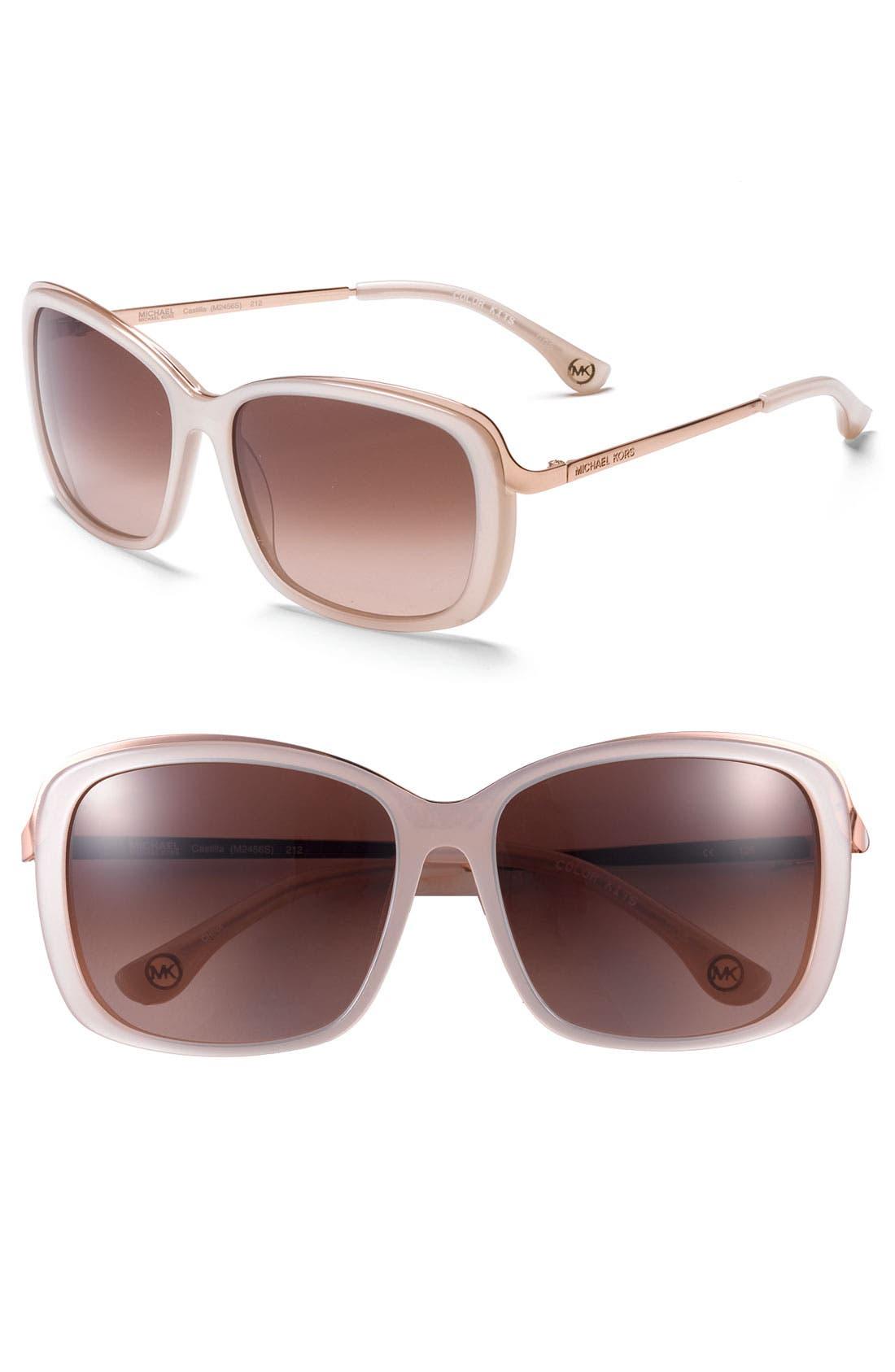 Alternate Image 1 Selected - MICHAEL Michael Kors 'Metal Combo' Sunglasses