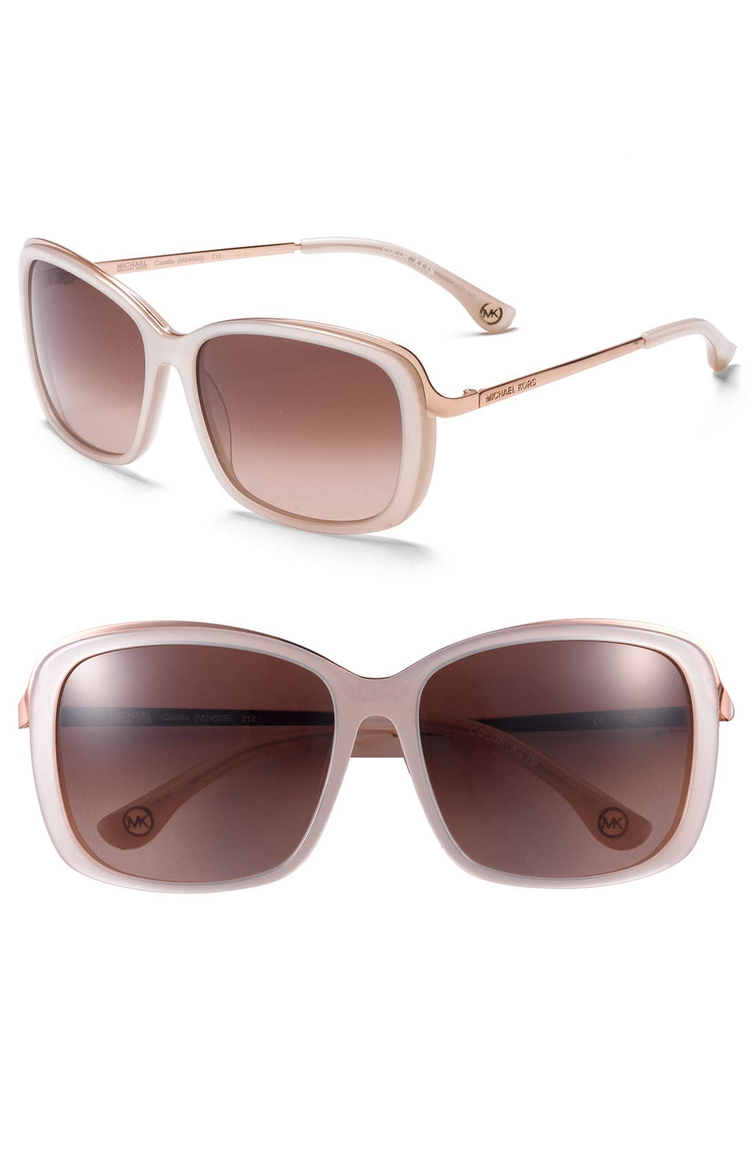 Main Image - MICHAEL Michael Kors 'Metal Combo' Sunglasses