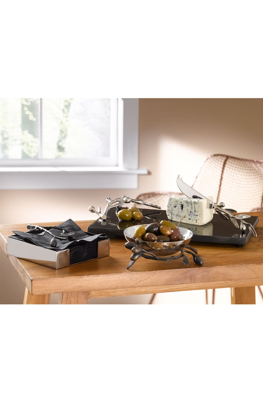 Alternate Image 2  - Michael Aram 'Olive Branch' Cheese Knife Set