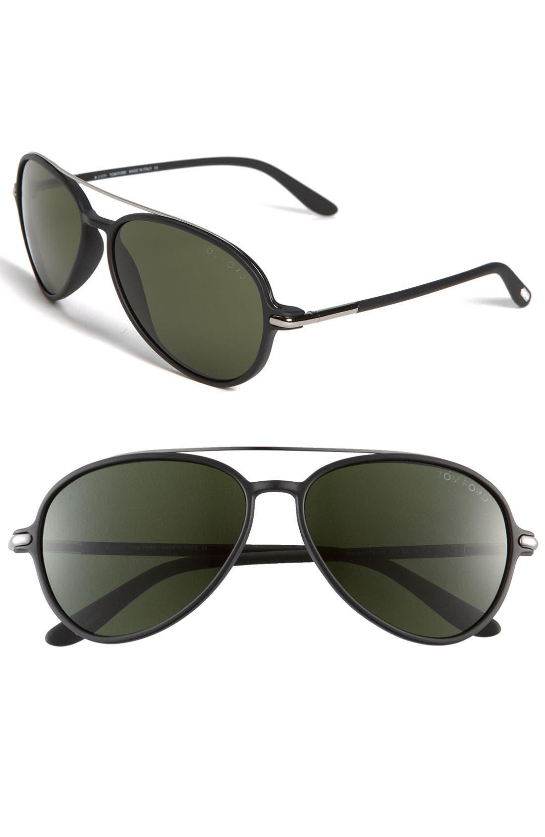 Alternate Image 1 Selected - Tom Ford 'Ramone' 58mm Aviator Sunglasses