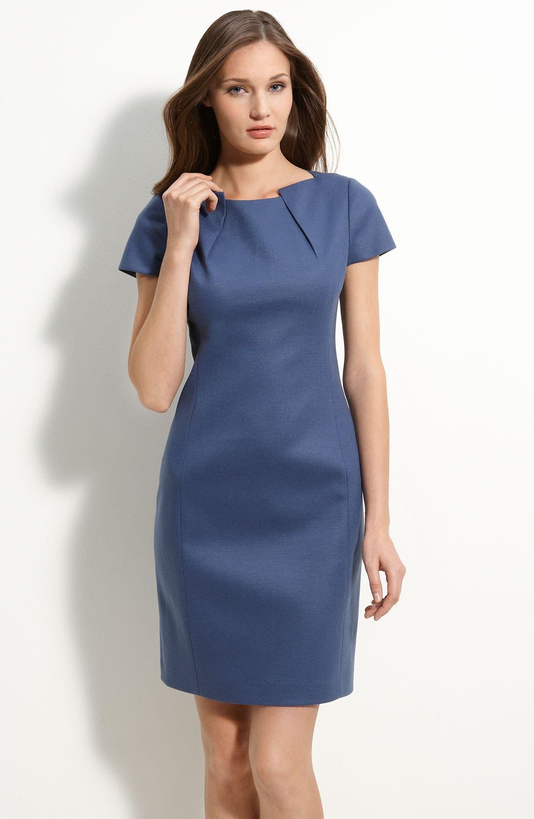 Main Image - Elie Tahari 'Alexandria' Wool Blend Sheath Dress