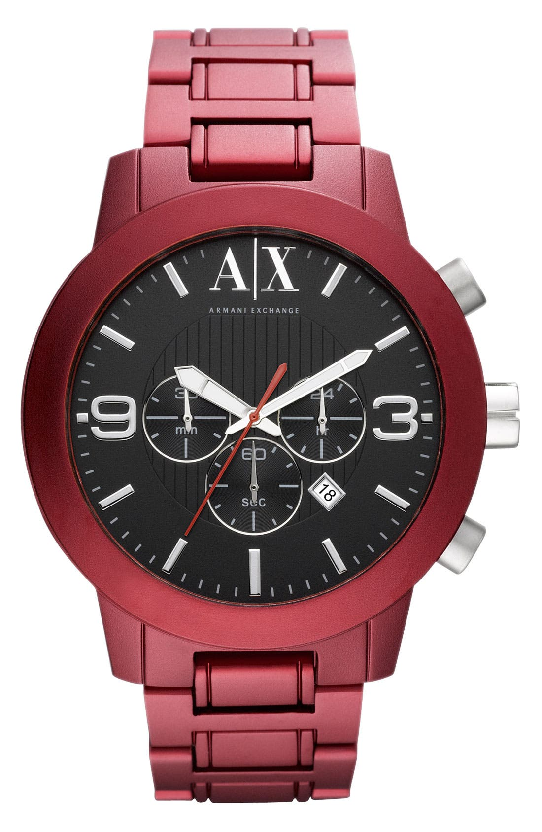 Main Image - AX Armani Exchange Aluminum Chronograph Watch