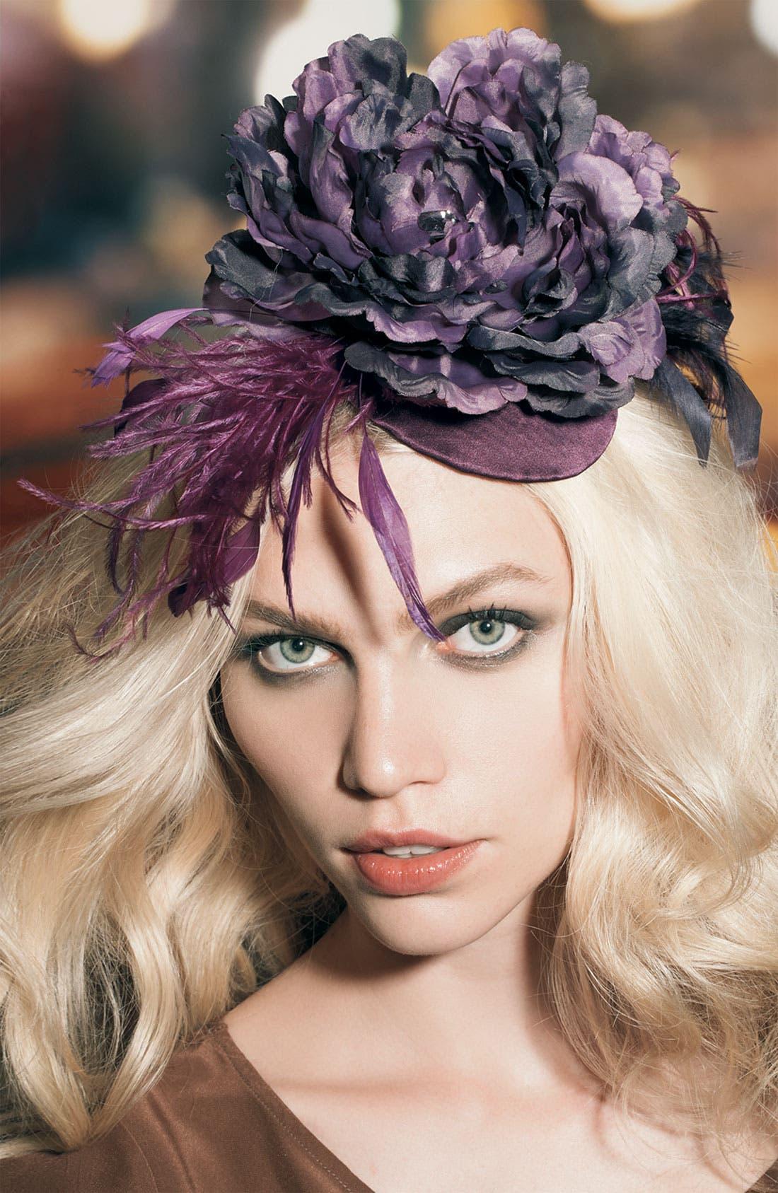 Alternate Image 2  - Cara Accessories 'Frivolous' Fascinator Hair Clip