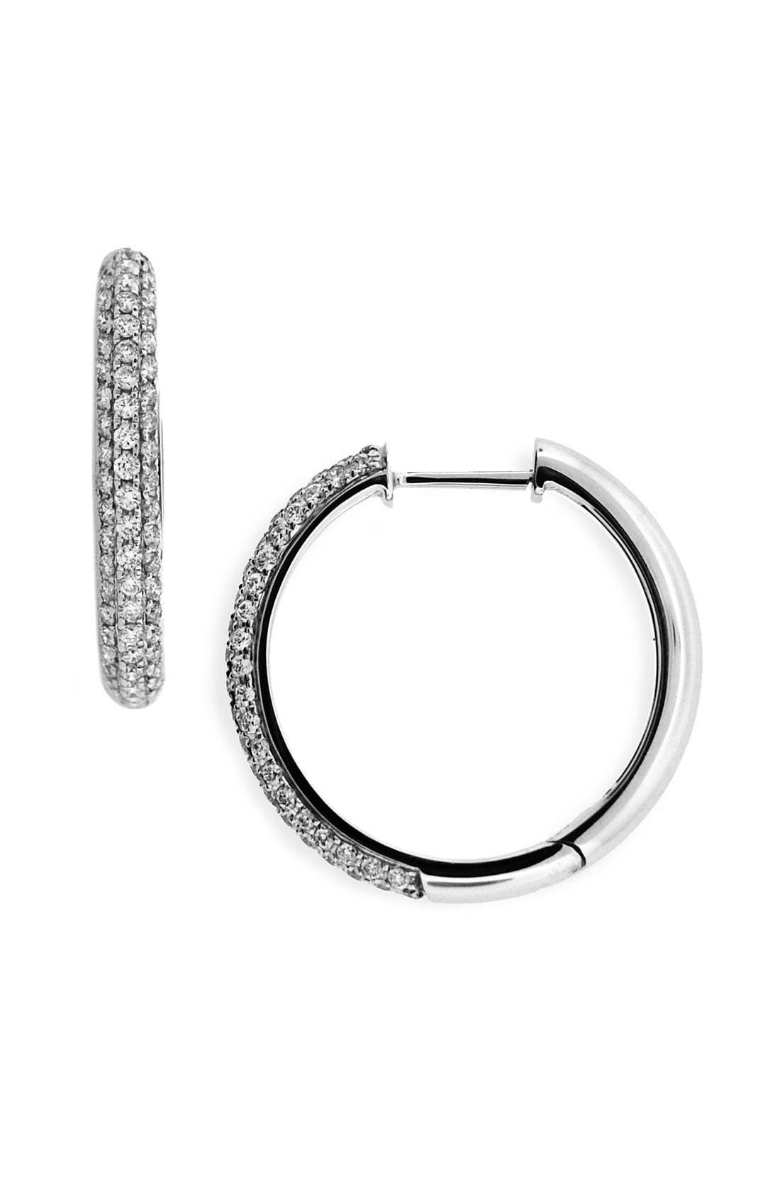 Main Image - Bony Levy 20mm Diamond Hoop Earrings (Nordstrom Exclusive)