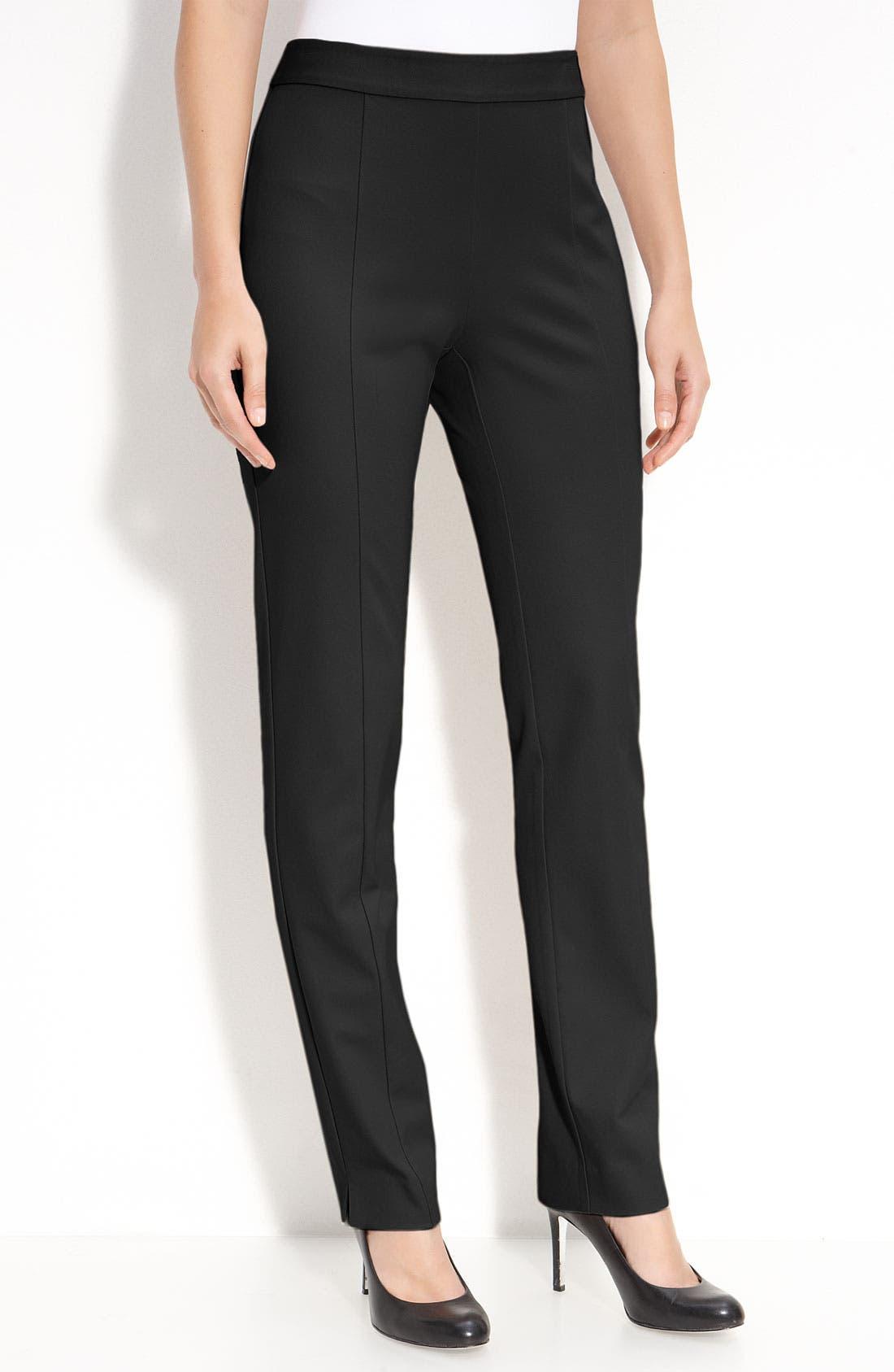 Alternate Image 1 Selected - Gallia Moda Stretch Cotton Pants