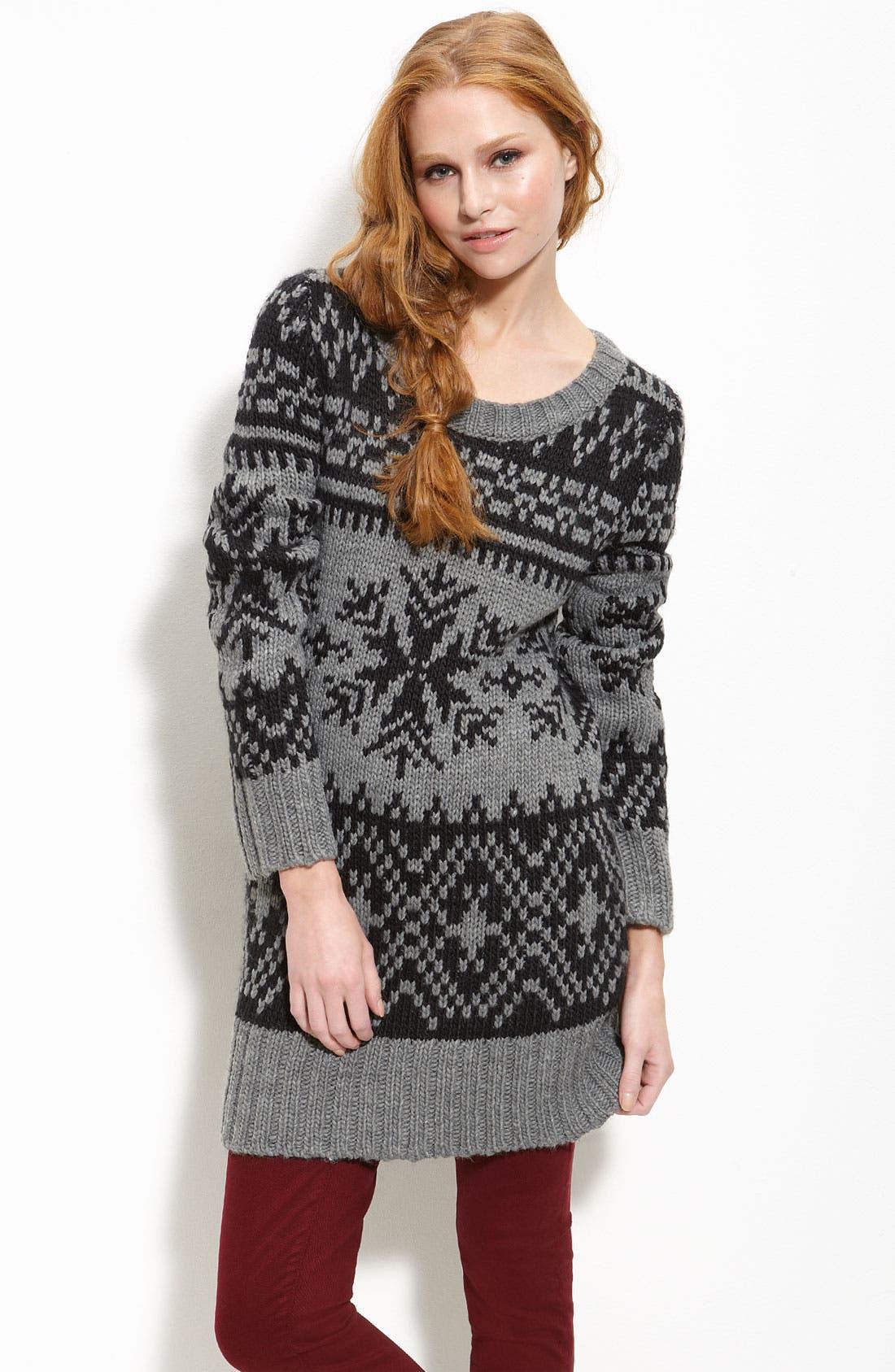 Alternate Image 1 Selected - Trouvé Fair Isle Sweater Tunic