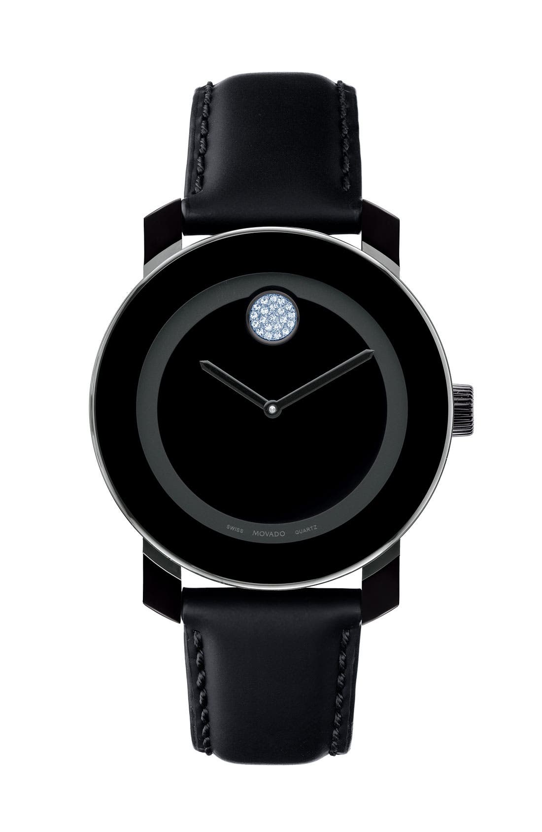 Alternate Image 1 Selected - Movado 'Small Bold' Crystal Marker Watch